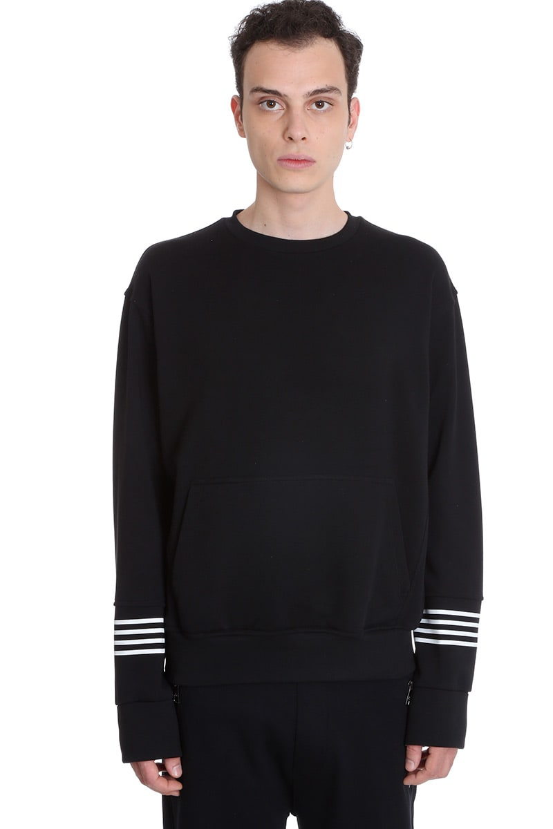 Neil Barrett Sweatshirt In Black Cotton
