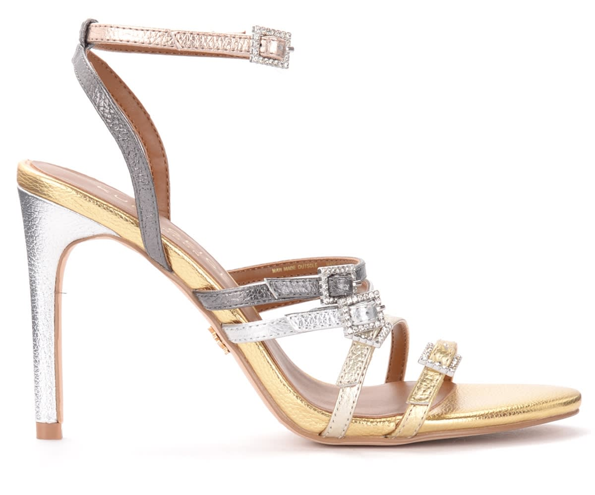 Pierra Sandals In Laminated Leather