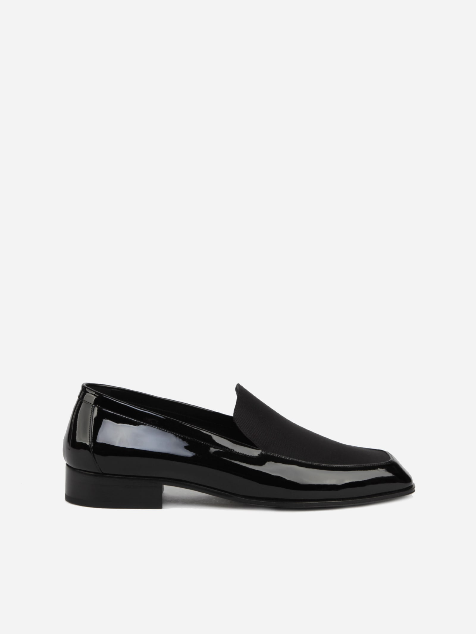 Saint Laurent Leathers HENRY LOAFERS IN LEATHER WITH GROSGRAIN INSERT