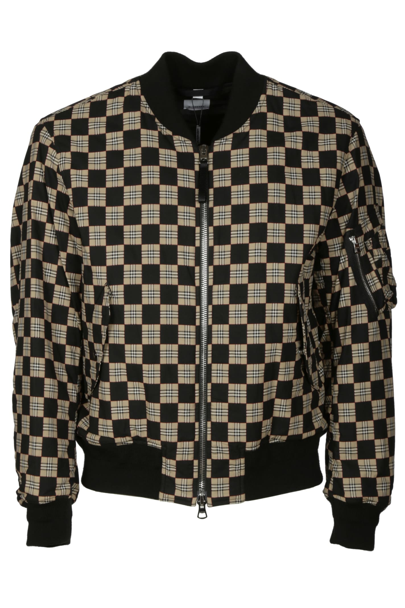 Burberry Cottons BROOKLAND CHECKBOARD BOMBER