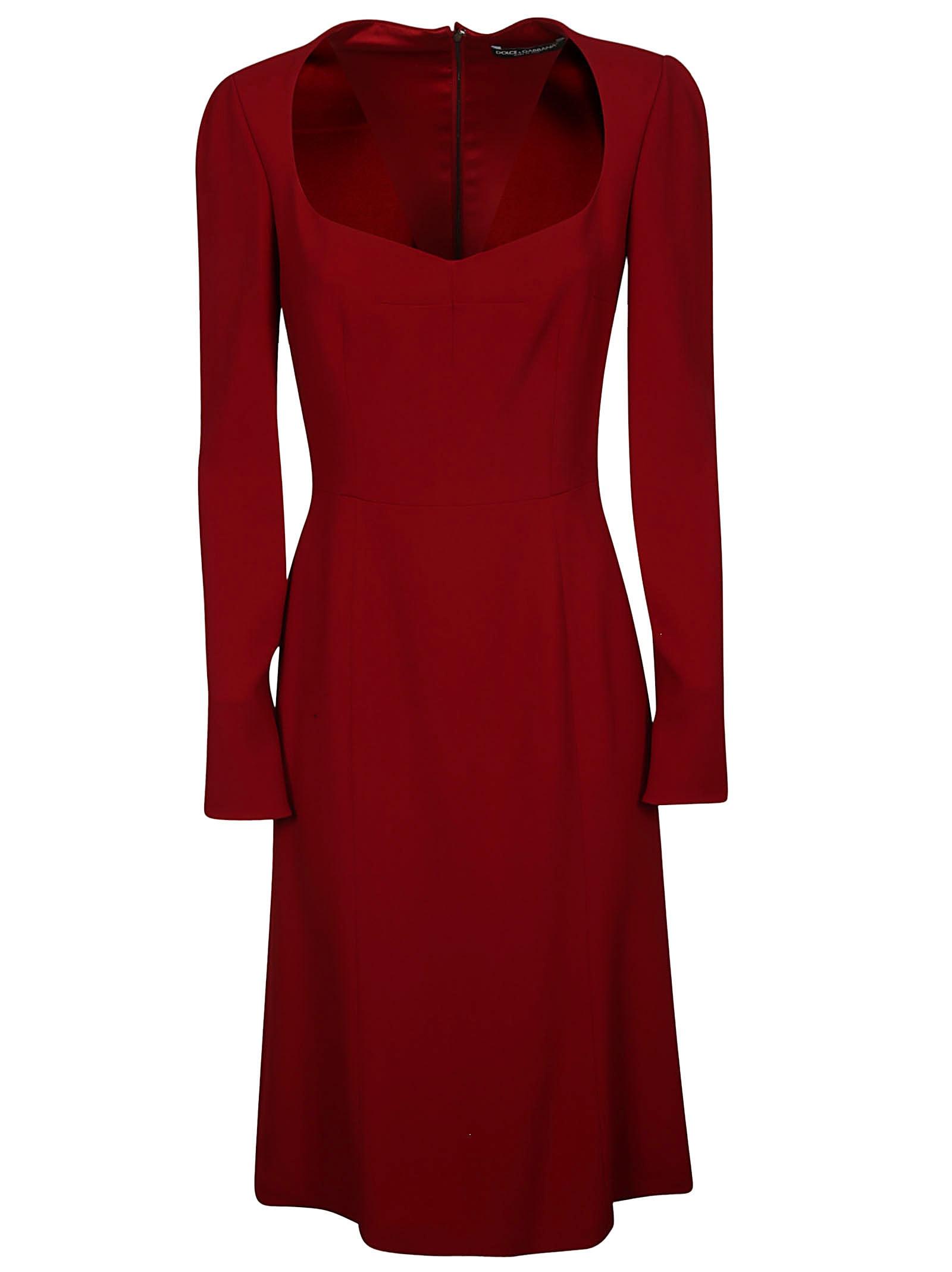 Photo of  Dolce & Gabbana Rear Zipped Dress- shop Dolce & Gabbana  online sales
