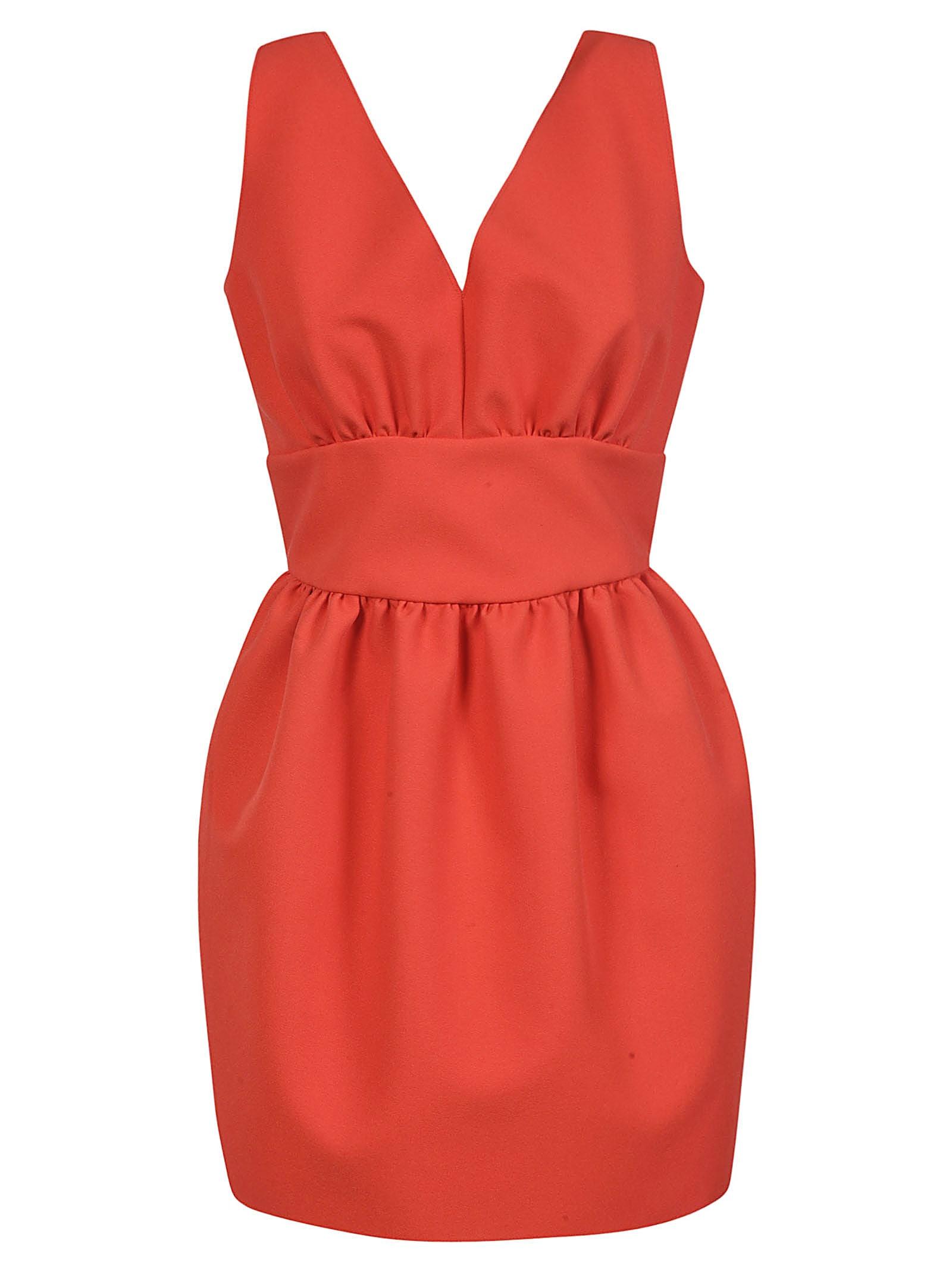 Buy MSGM V-neck Sleeveless Dress online, shop MSGM with free shipping