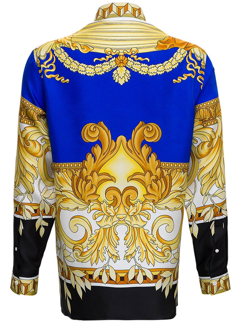Versace Renaissance Shirt In Silk Twill