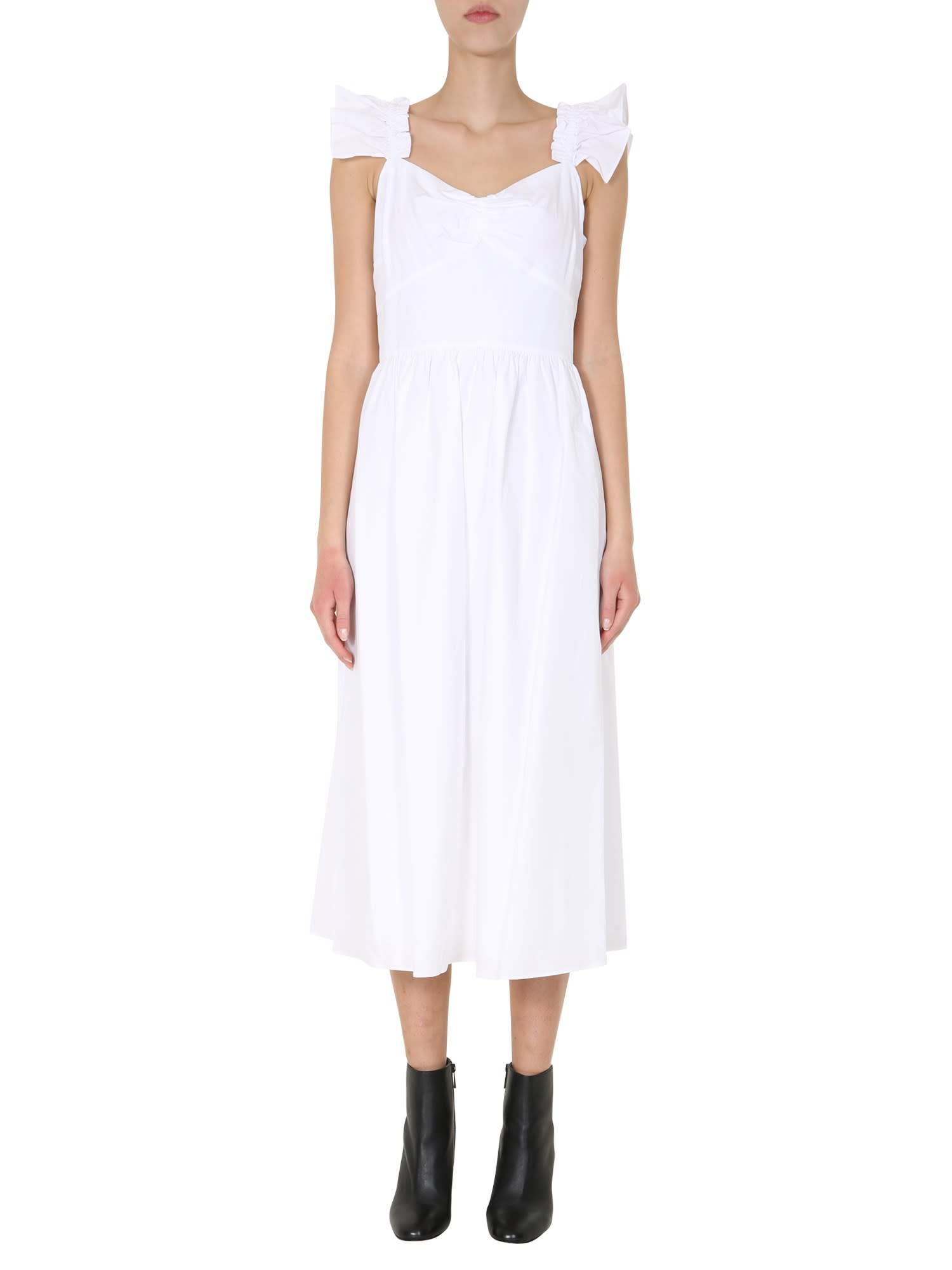 Buy MICHAEL Michael Kors Dress With Volant online, shop MICHAEL Michael Kors with free shipping