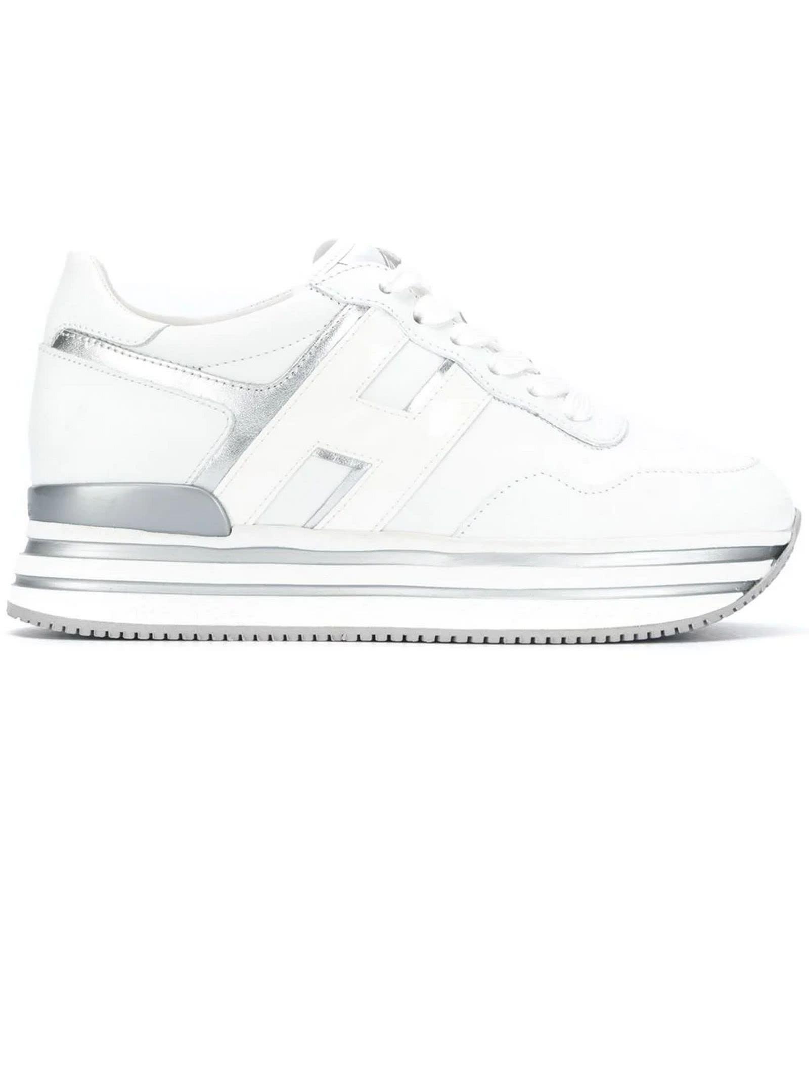 Hogan Midi H222 Silver, White