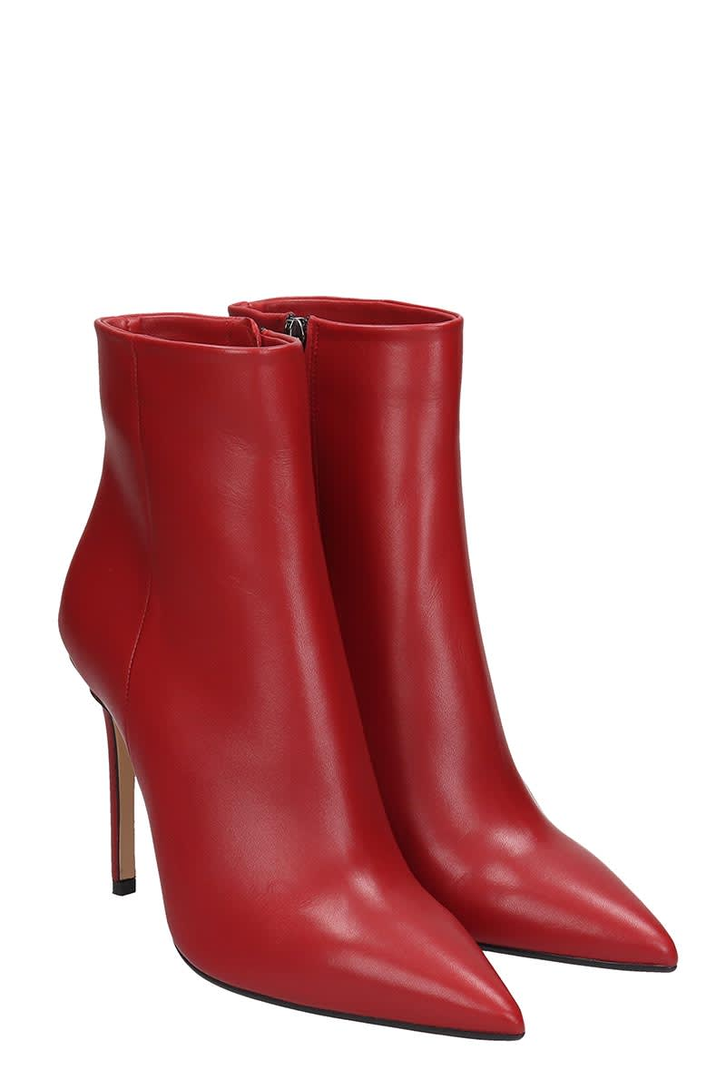 Best price on the market at italist | The Seller The Seller High Heels Ankle Boots In Red Leather
