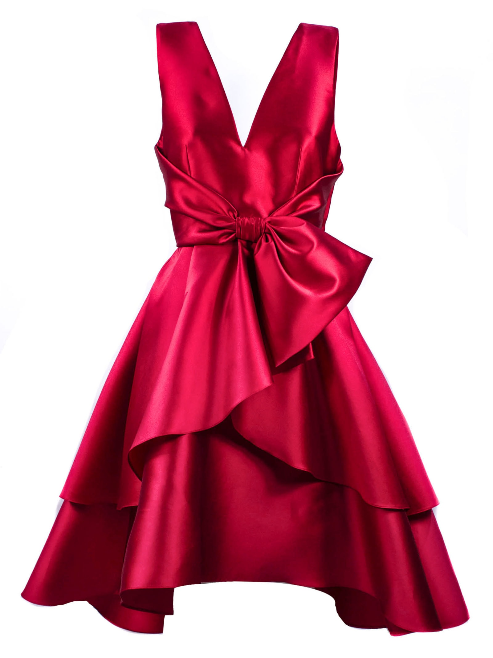 Buy Alberta Ferretti Red Silk Blend Flared Dress online, shop Alberta Ferretti with free shipping