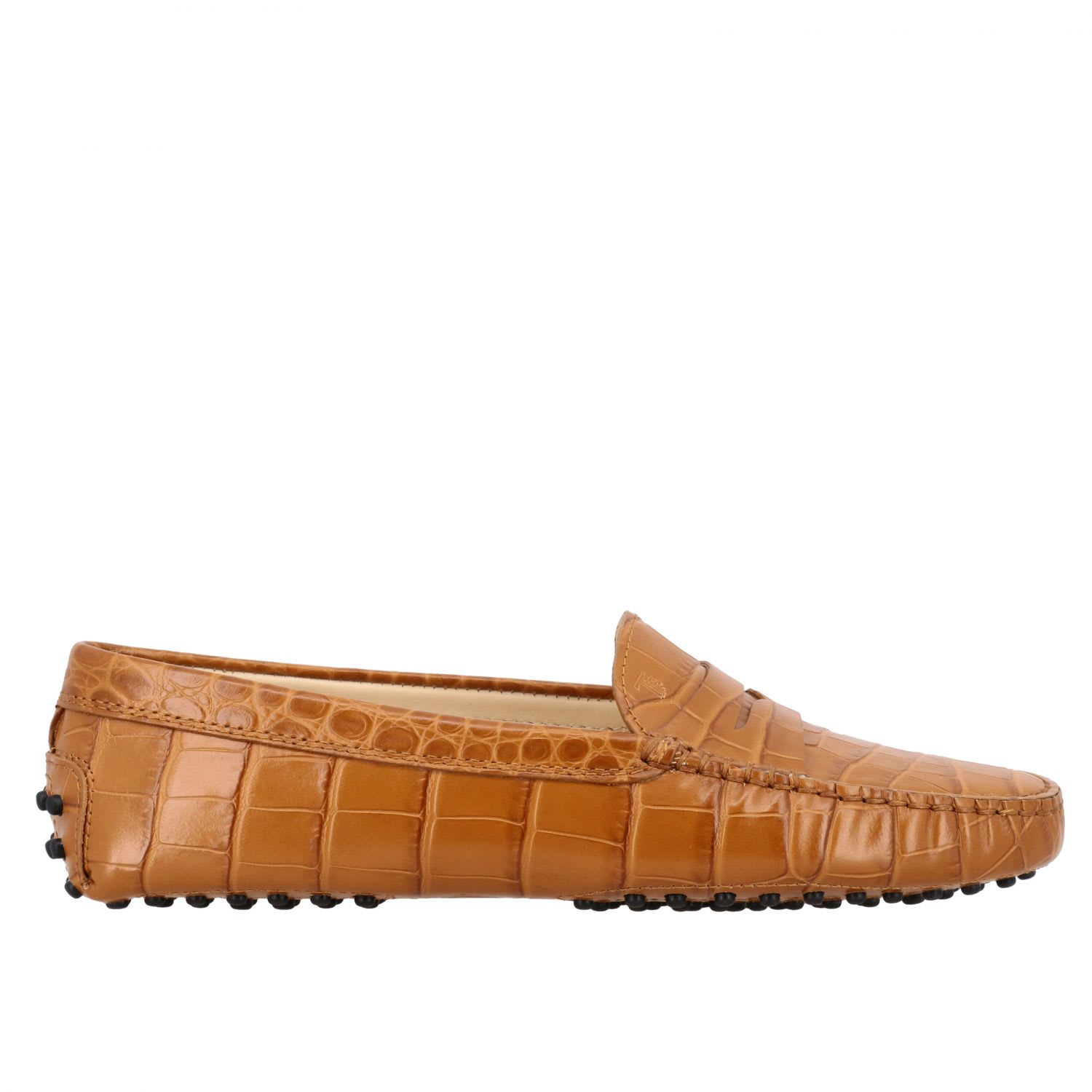 Tods Loafers Tods New Gommini Loafer In Croco-print Leather With Sleeper