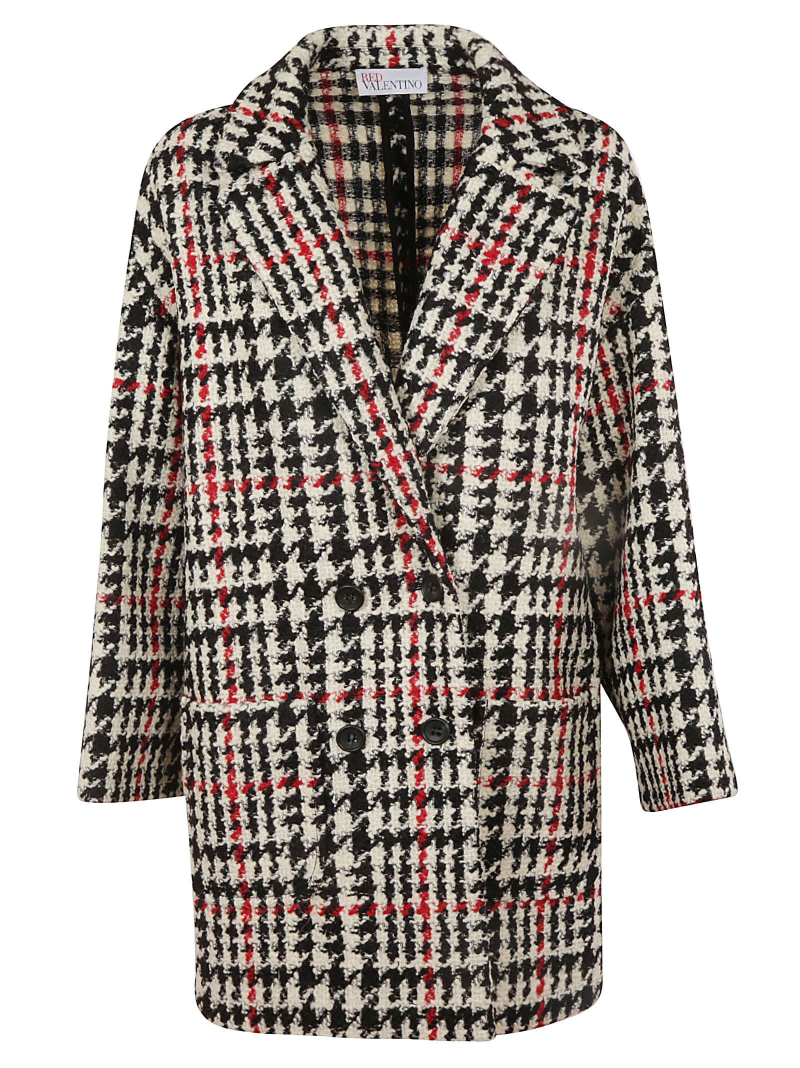 RED Valentino Patterned Coat