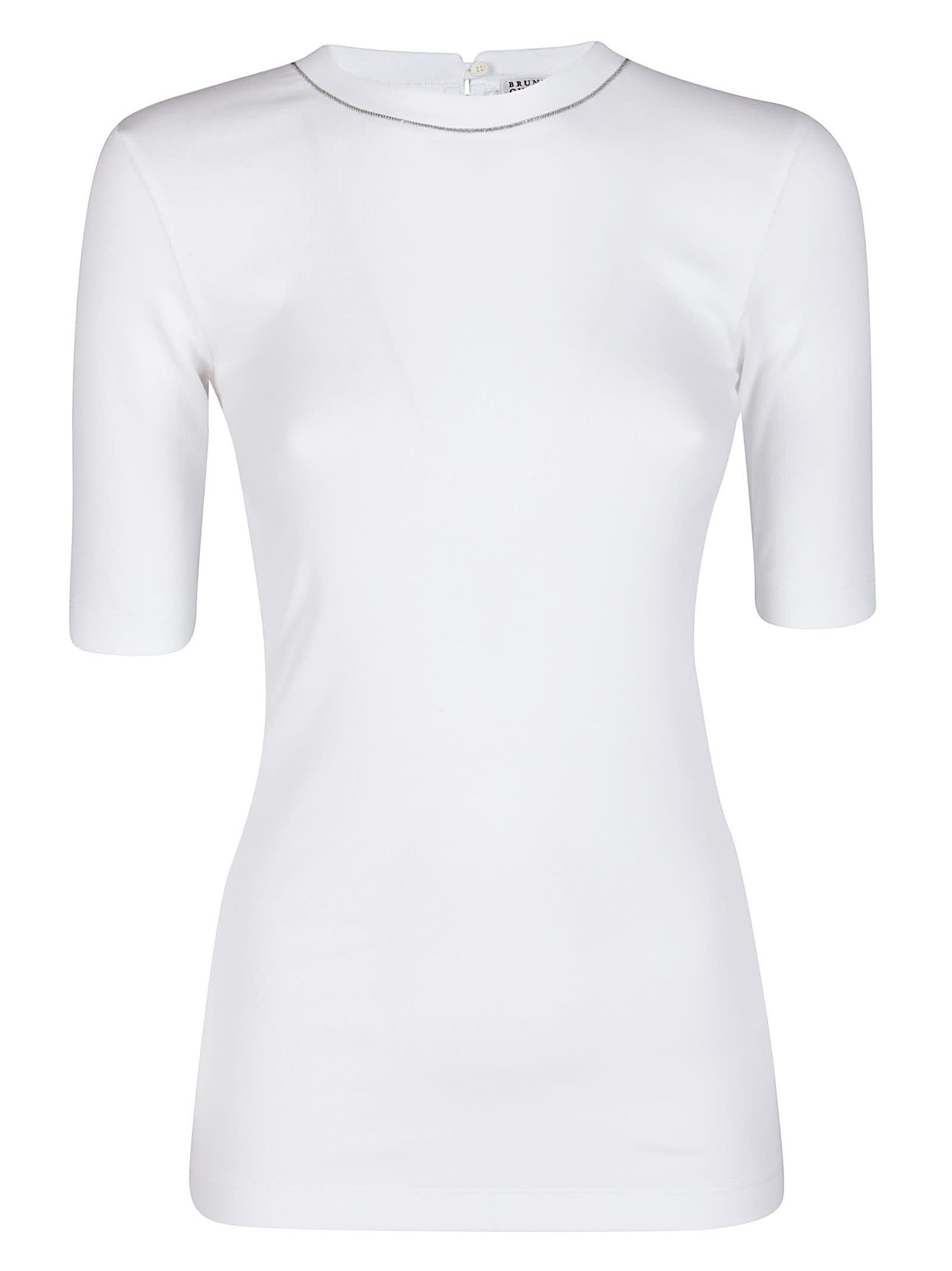 White Stretch Cotton T-shirt