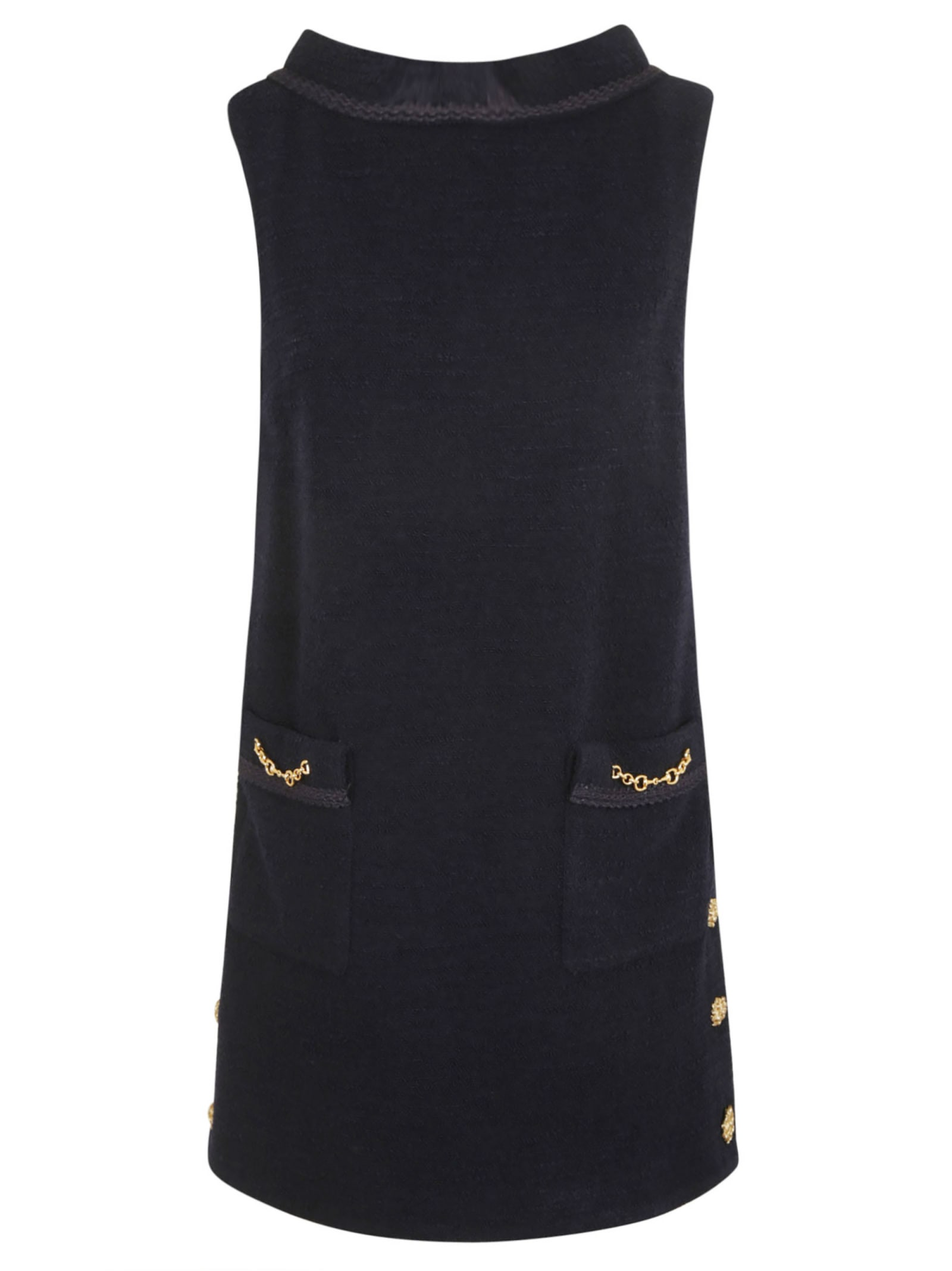 Buy Gucci Rear Zip Embellished Sleeveless Dress online, shop Gucci with free shipping