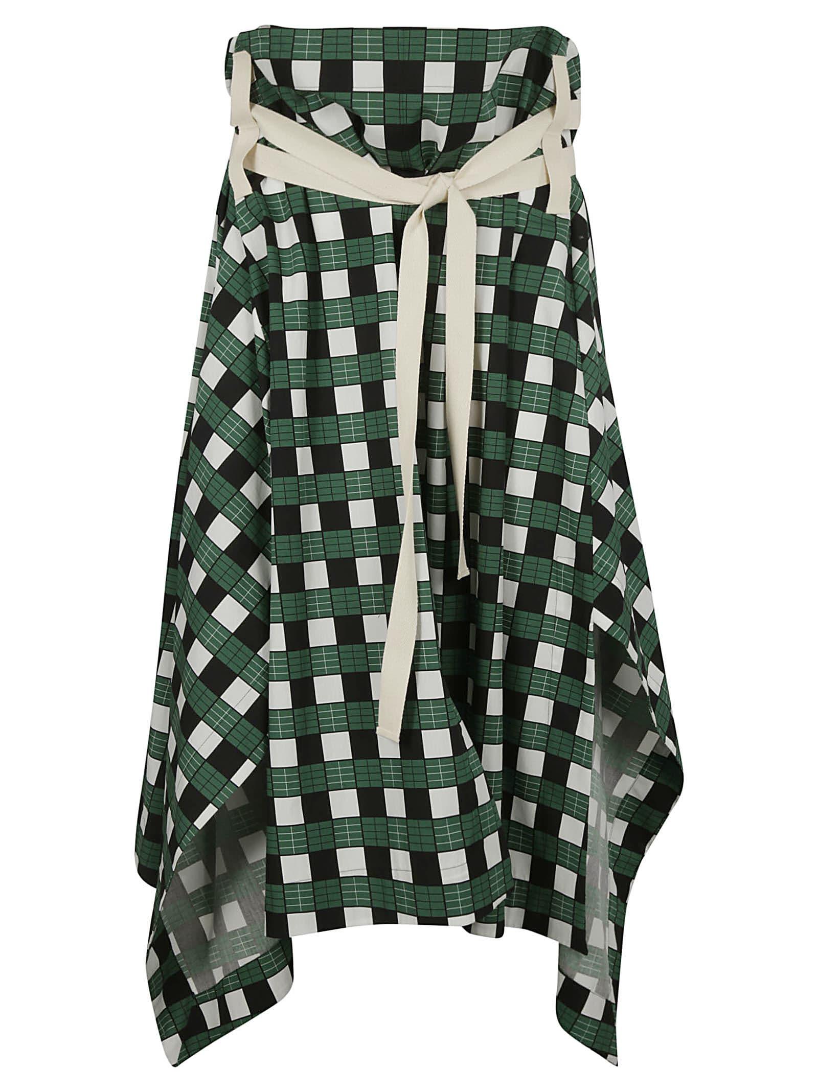 Plan C Popeline Checkers Long Skirt