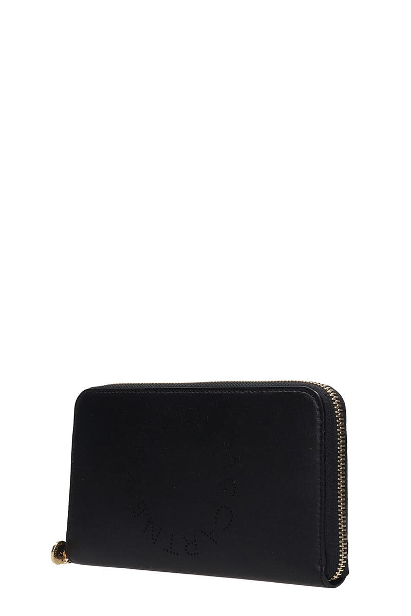 Best Price Stella Mccartney Wallet In Black Faux Leather
