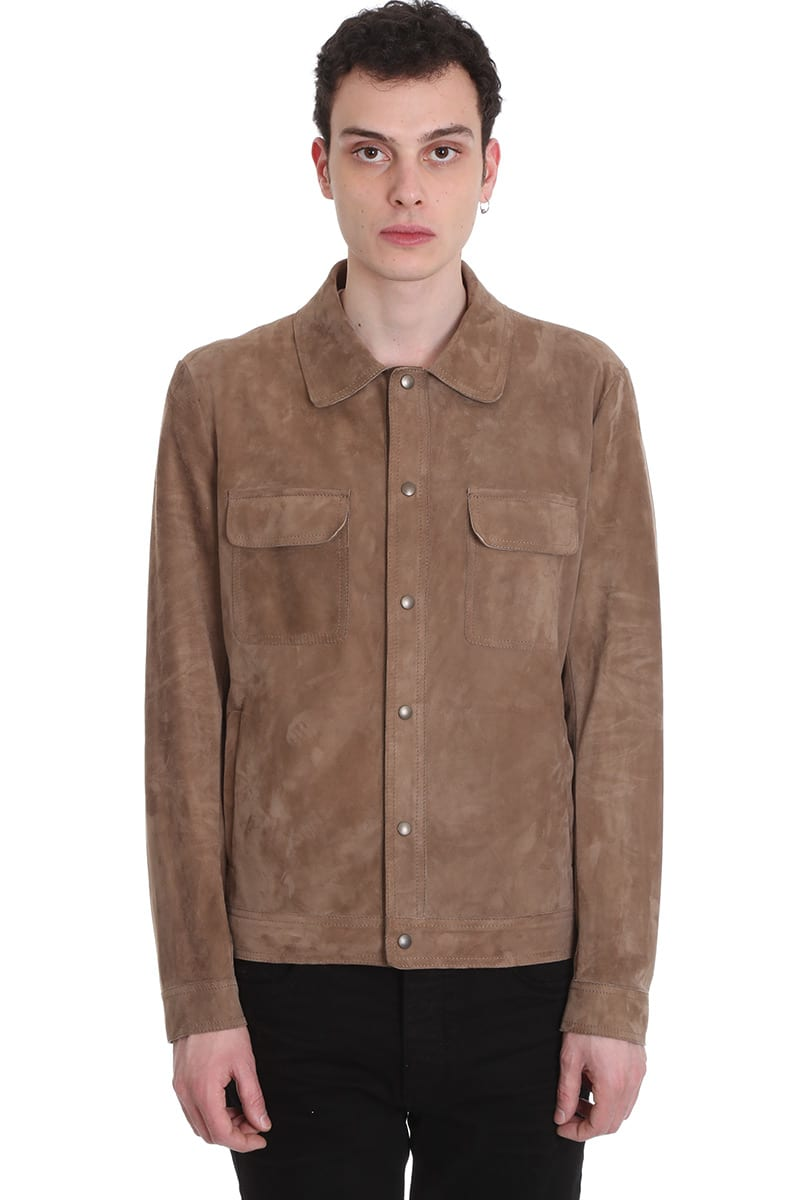 Salvatore Santoro Jacket In Brown Leather