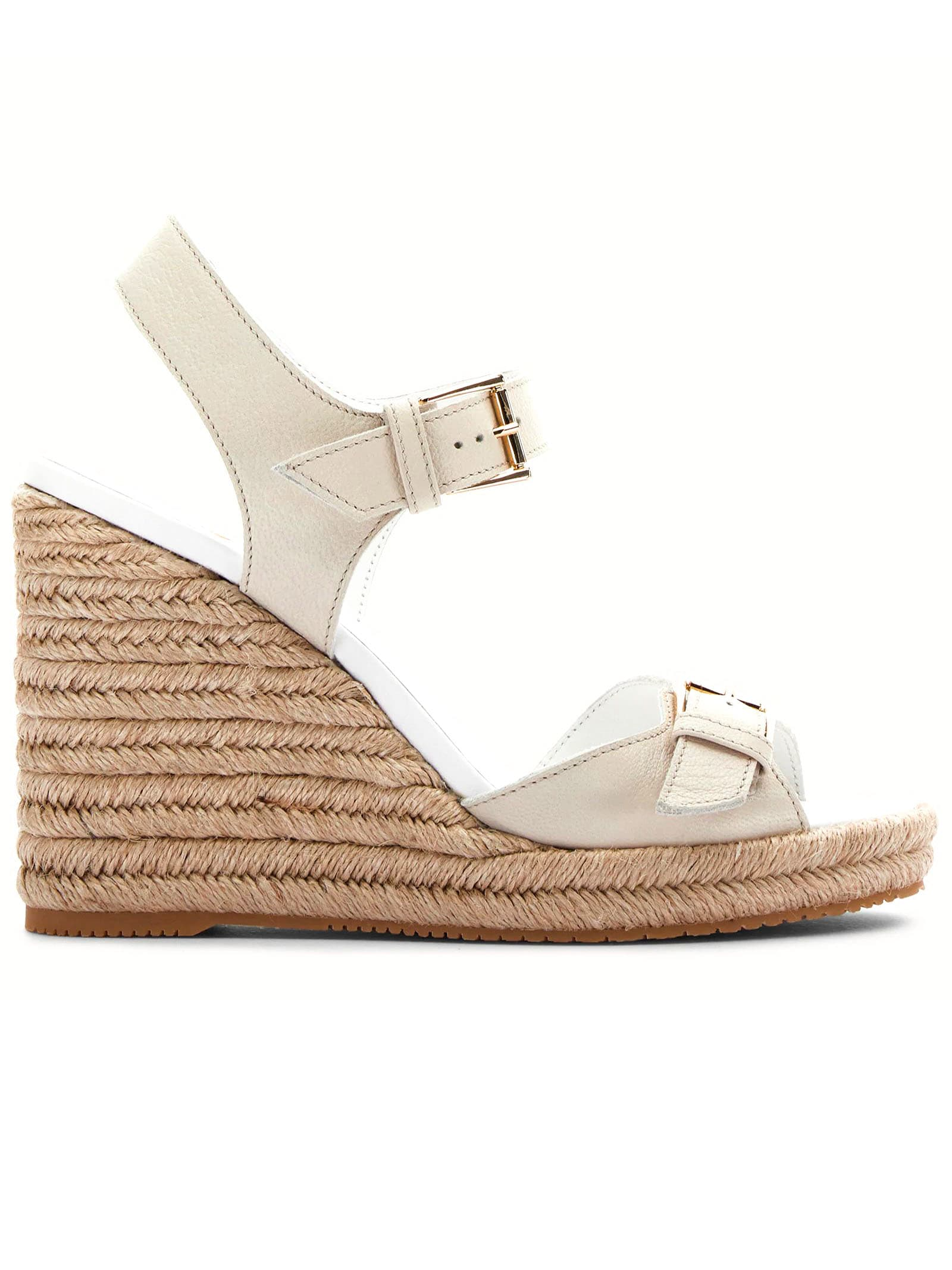 Buckle Wedges White