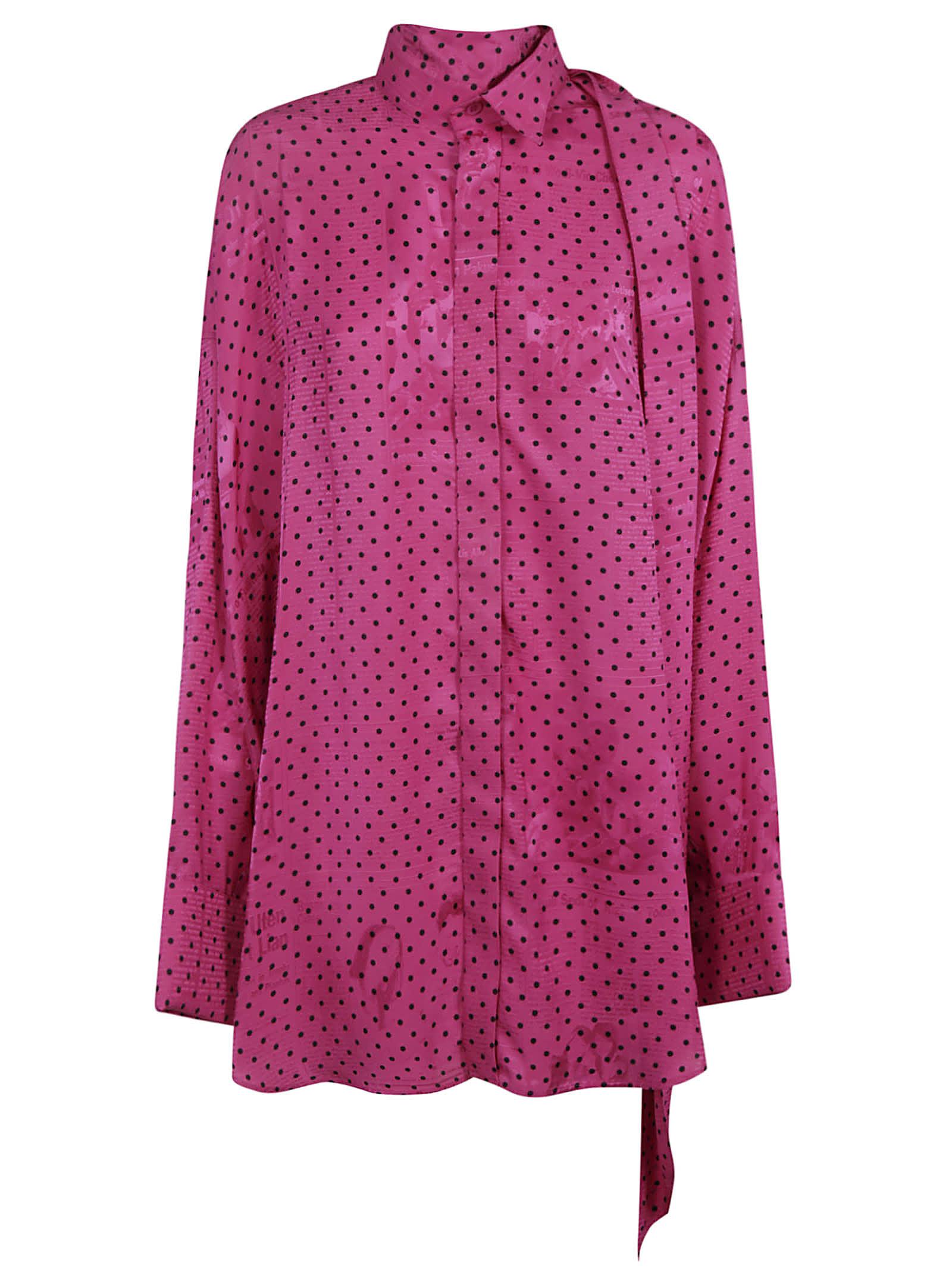 Balenciaga Dotted Print Long Shirt