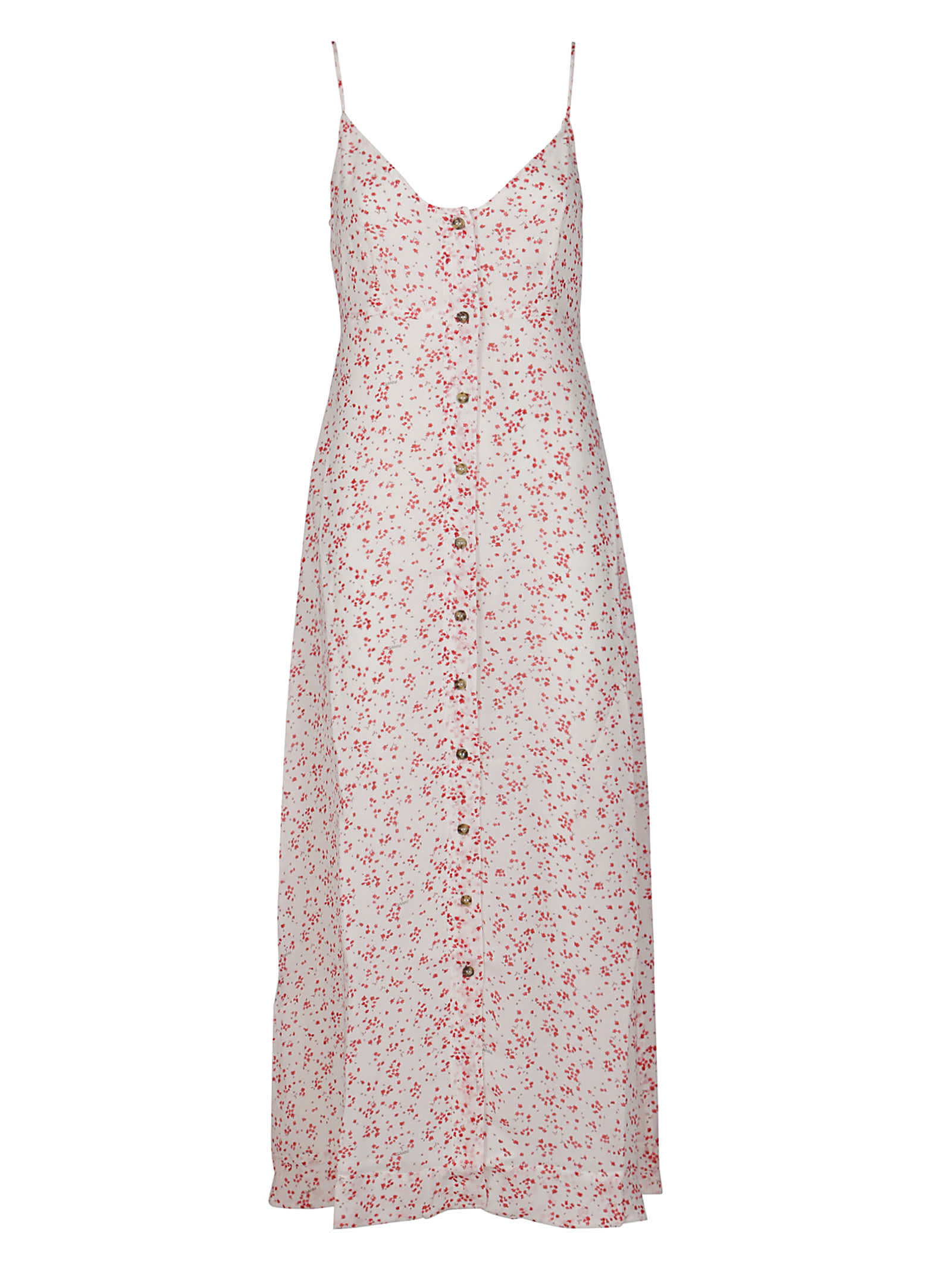 Buy Ecru Viscose Dress online, shop Ganni with free shipping