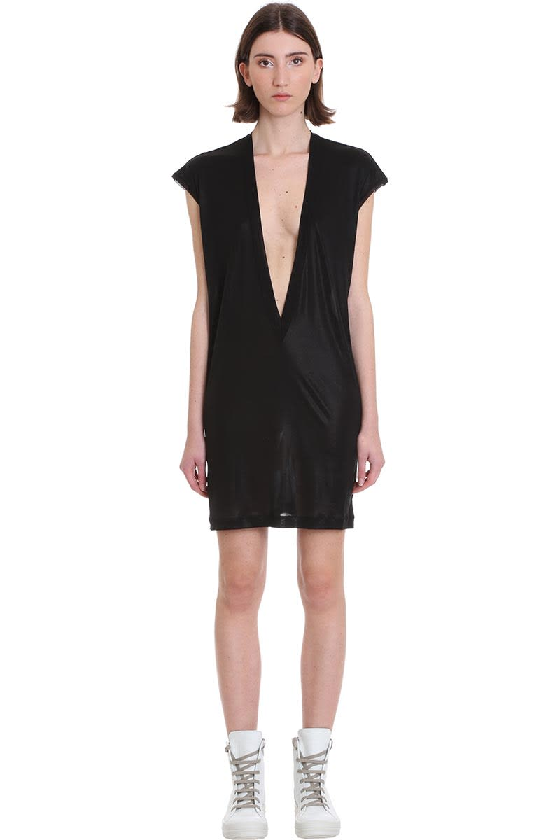 Buy Rick Owens Dylan T Dress In Black Viscose online, shop Rick Owens with free shipping