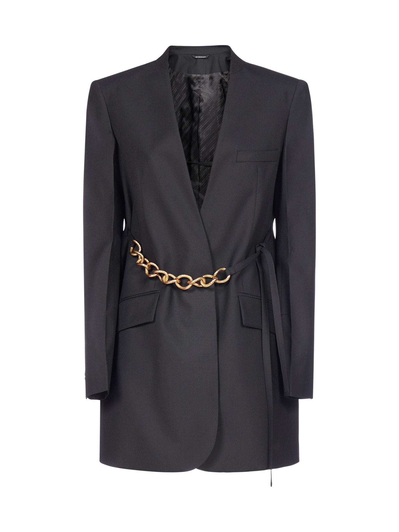Givenchy Chain Belt-detail Wool Blazer