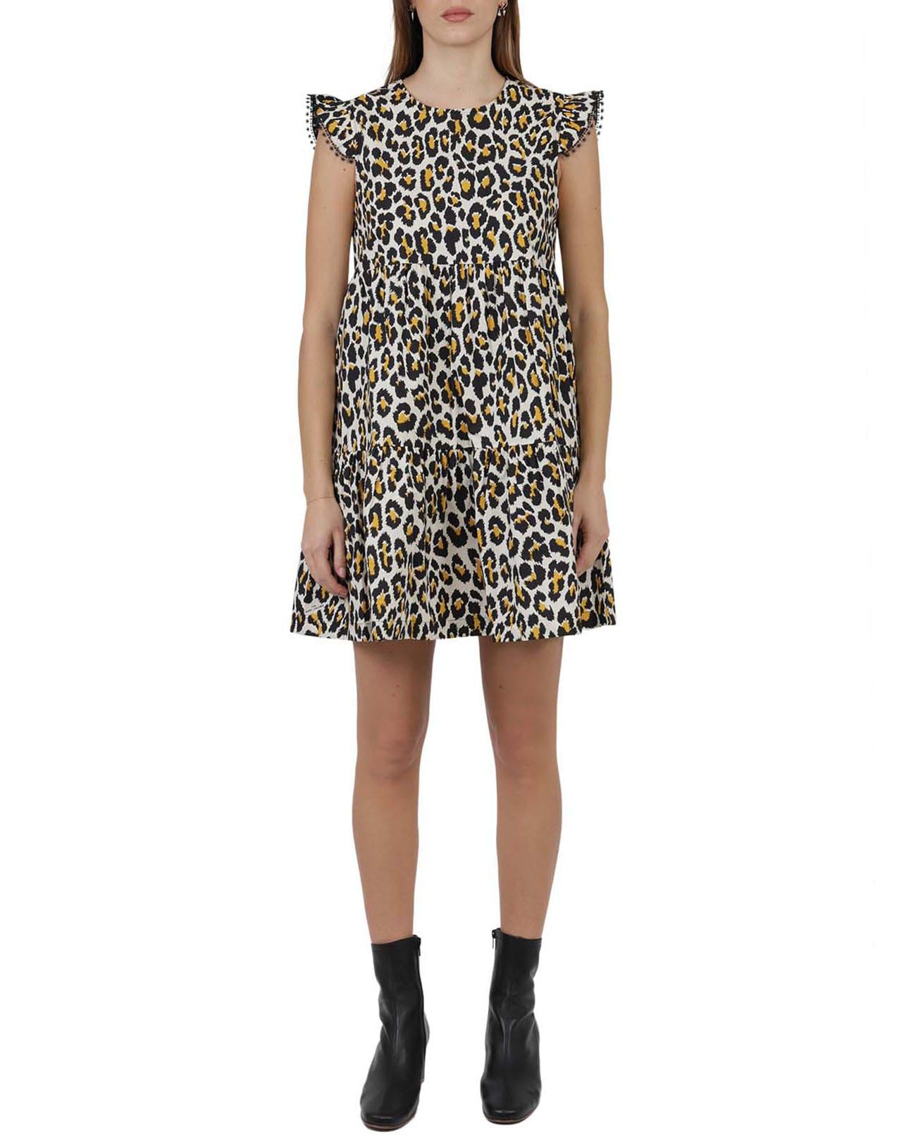 Marc Jacobs LEOPARD TENT DRESS