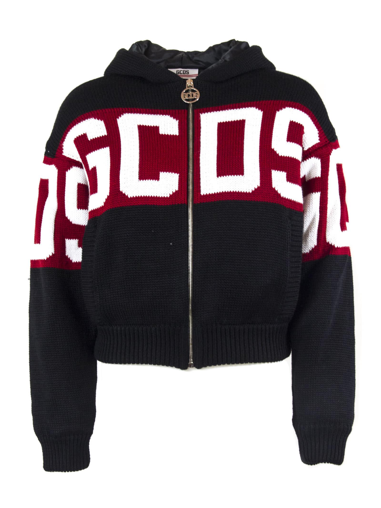 GCDS Black Wool Blend Jacket