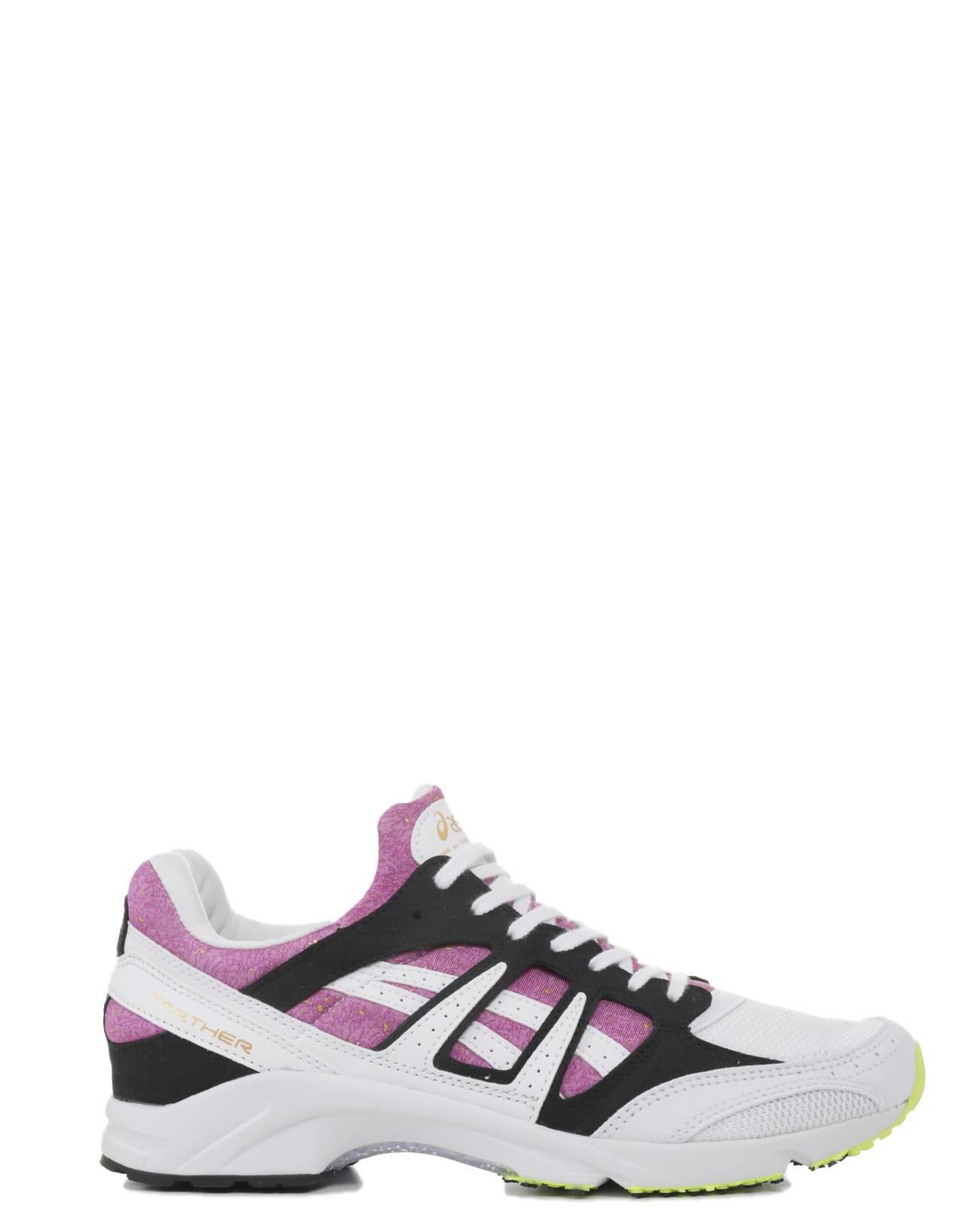 Comme Des Garçons Shirt Sneakers COMME DES GARÇONS SHIRT X ASICS TARTHER SD PINK AND WHITE SNEAKERS