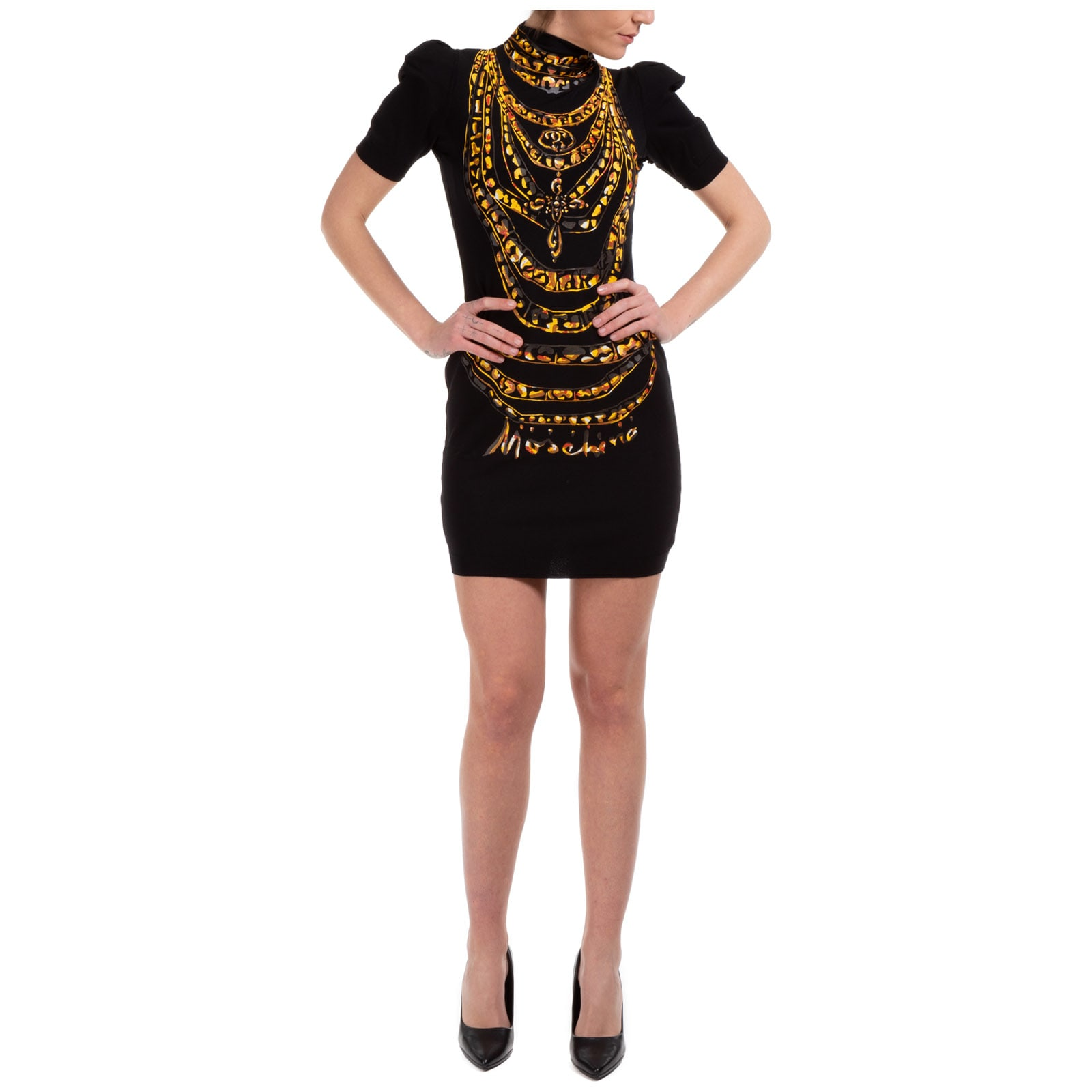 Buy Moschino Chains Mini Dress online, shop Moschino with free shipping