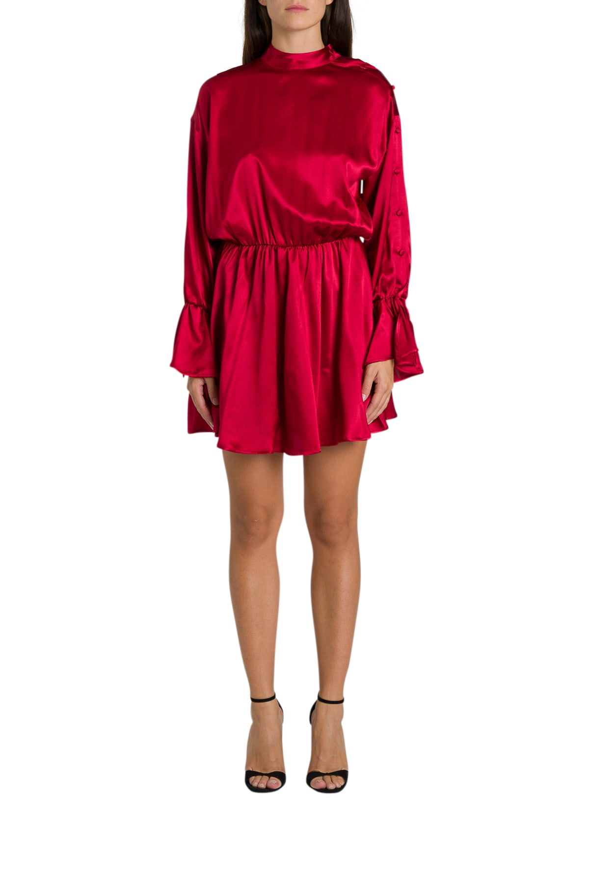 Federica Tosi Silk Short Dress With Coulotte