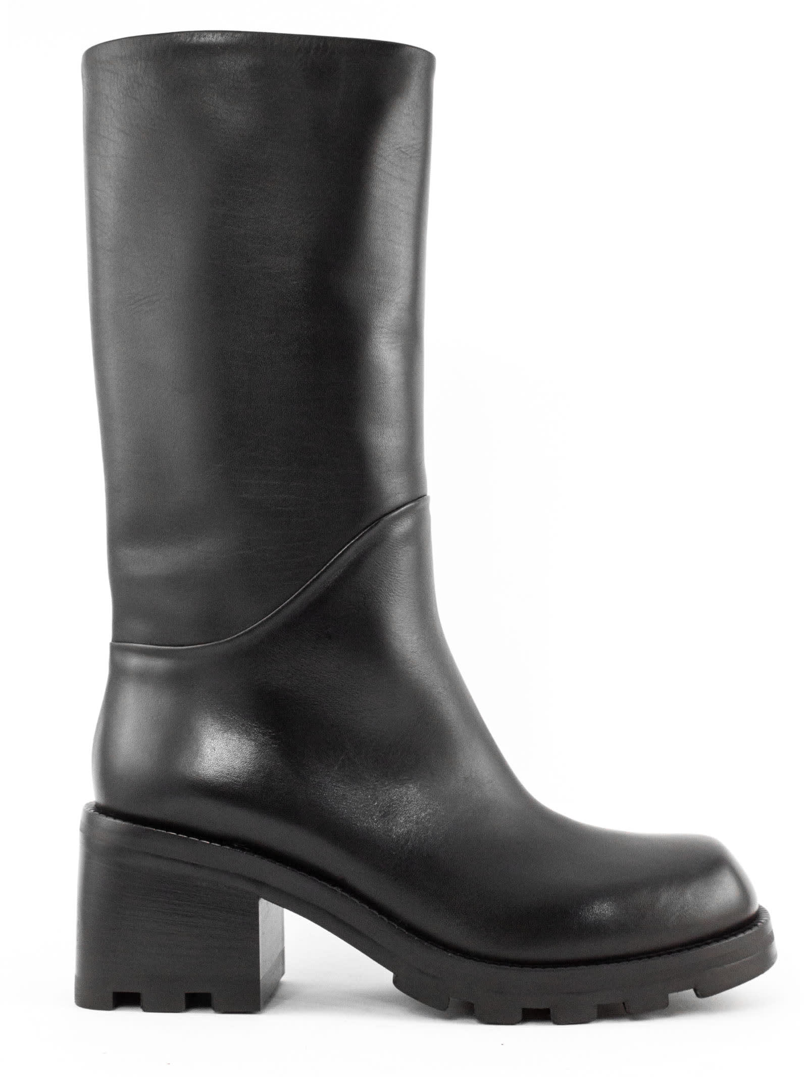 Boot In Black Leather
