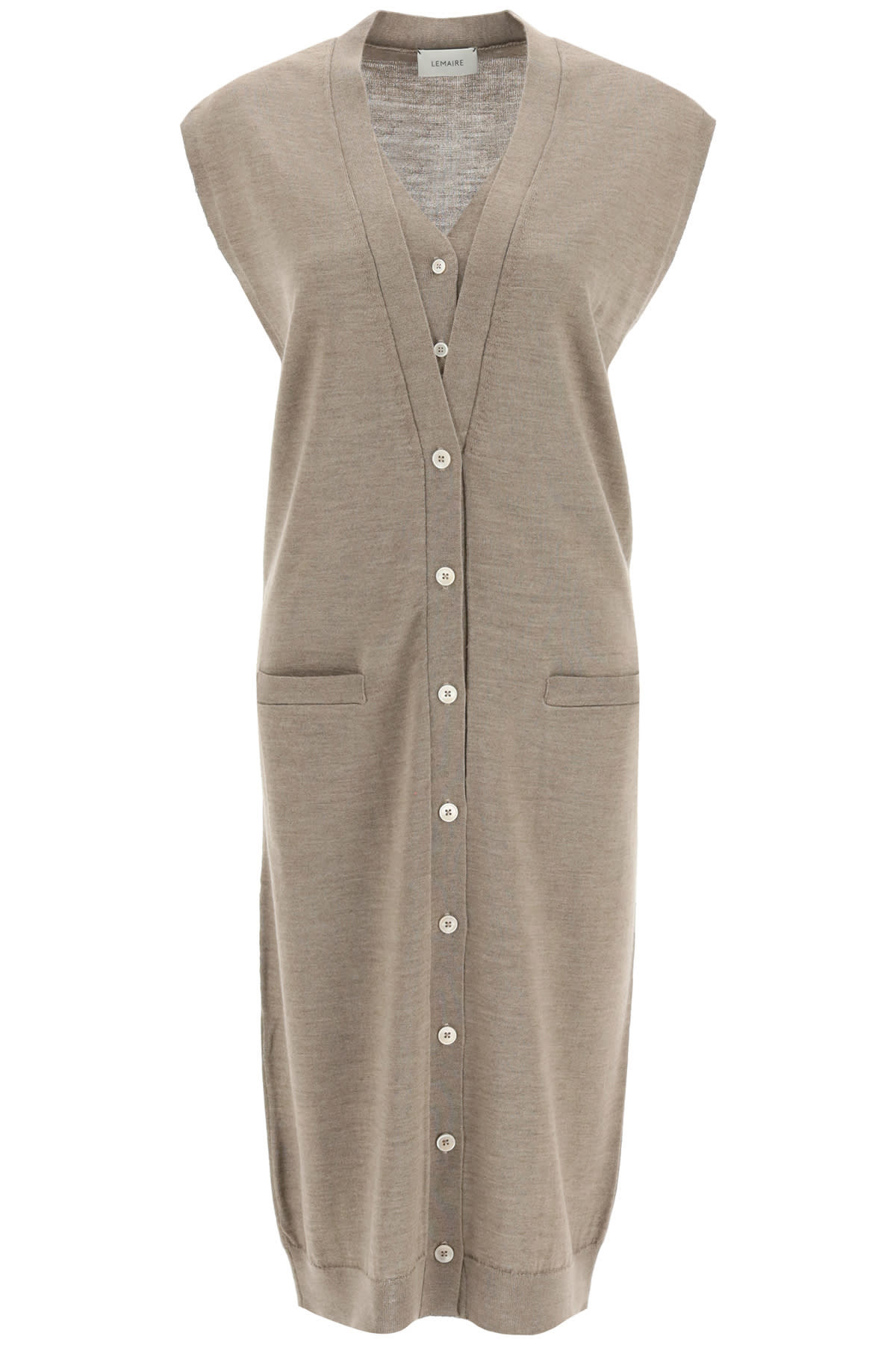 Lemaire LAYERED DRESS IN MERINO WOOL BLEND