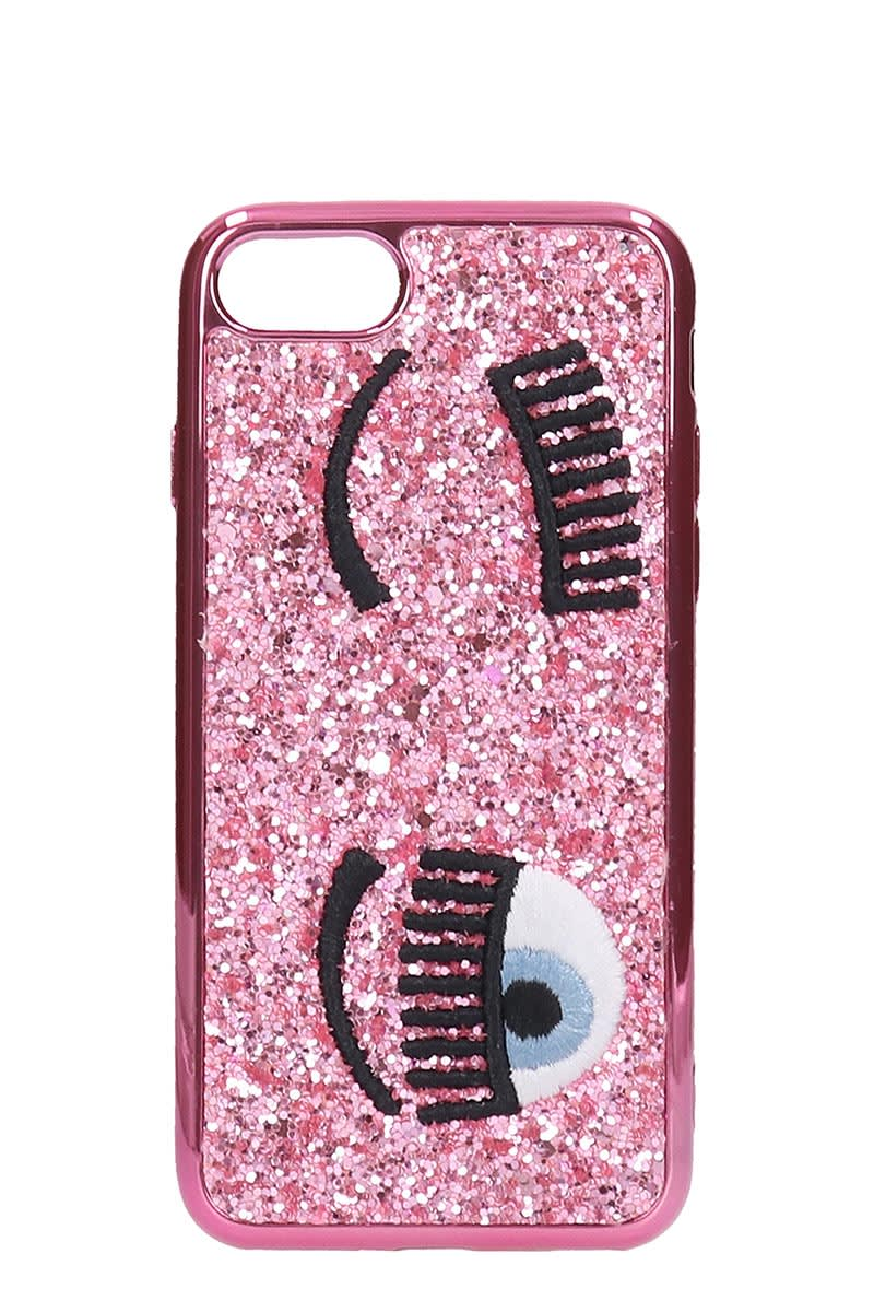Cover 7/8 Iphone / Ipad Case In Rose-pink Pvc