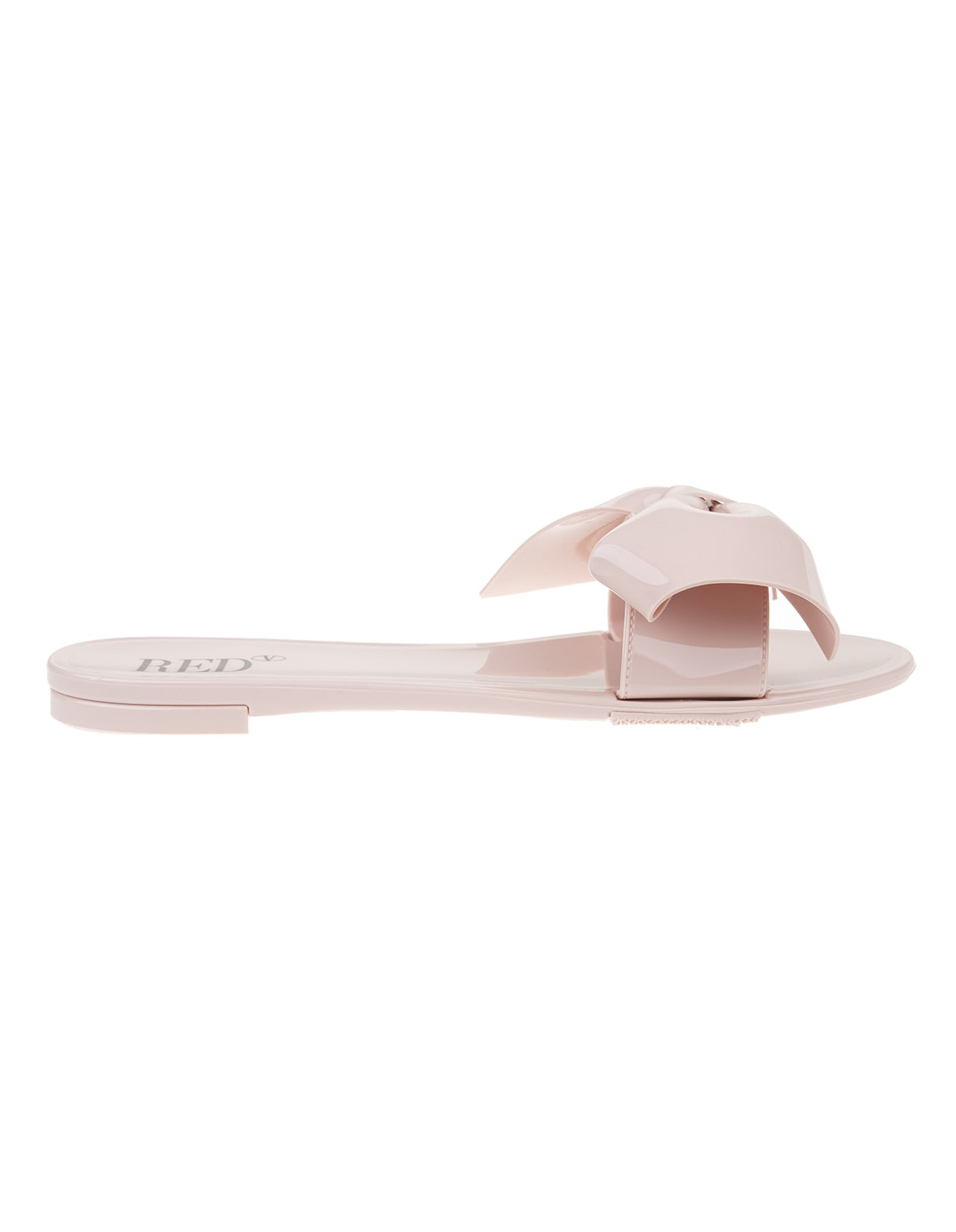 Buy RED Valentino Nude Maxi Bow Slip-on online, shop RED Valentino shoes with free shipping