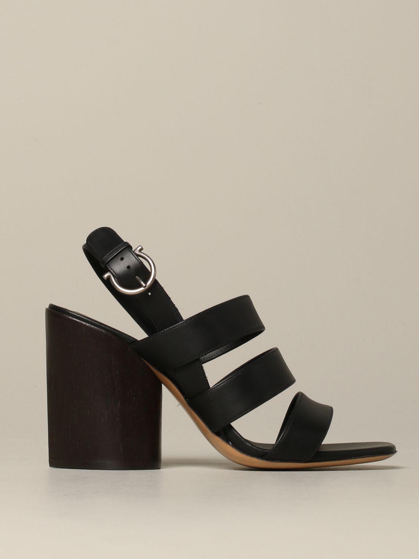 Salvatore Ferragamo Heeled Sandals Salvatore Ferragamo Trezze Sandal In Leather