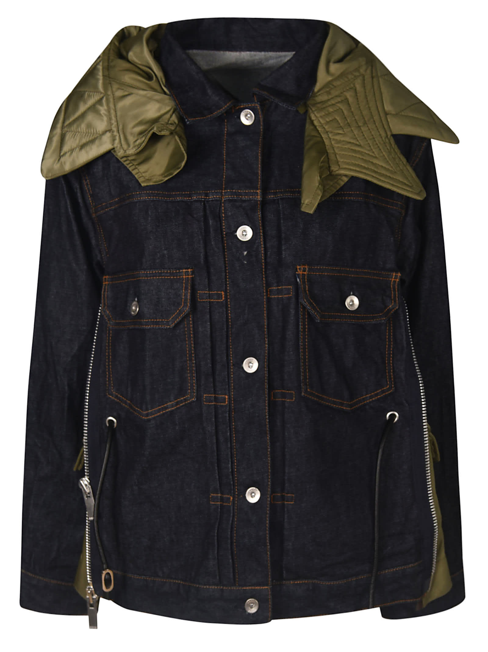 Sacai Mid-buttoned Pocket Denim Jacket