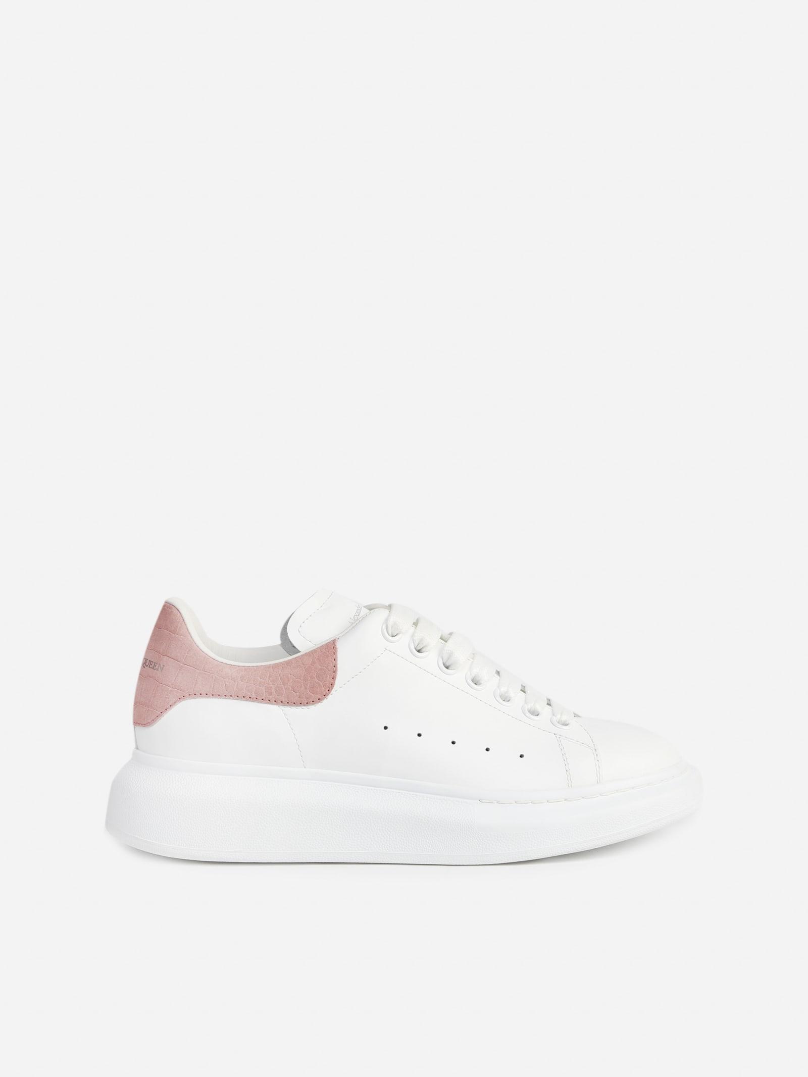 Alexander McQueen Oversize Sneakers In Leather With Contrasting Heel Tab
