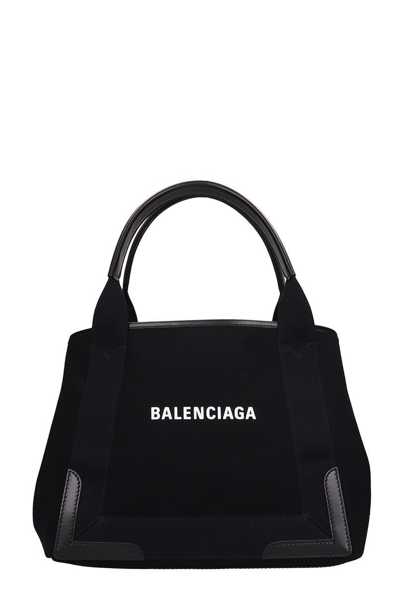 Balenciaga NAVI CABAS S TOTE IN BLACK CANVAS