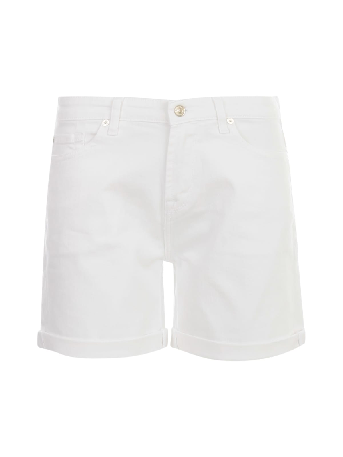 7 For All Mankind BOY SHORTS COLORED TWILL WHITE