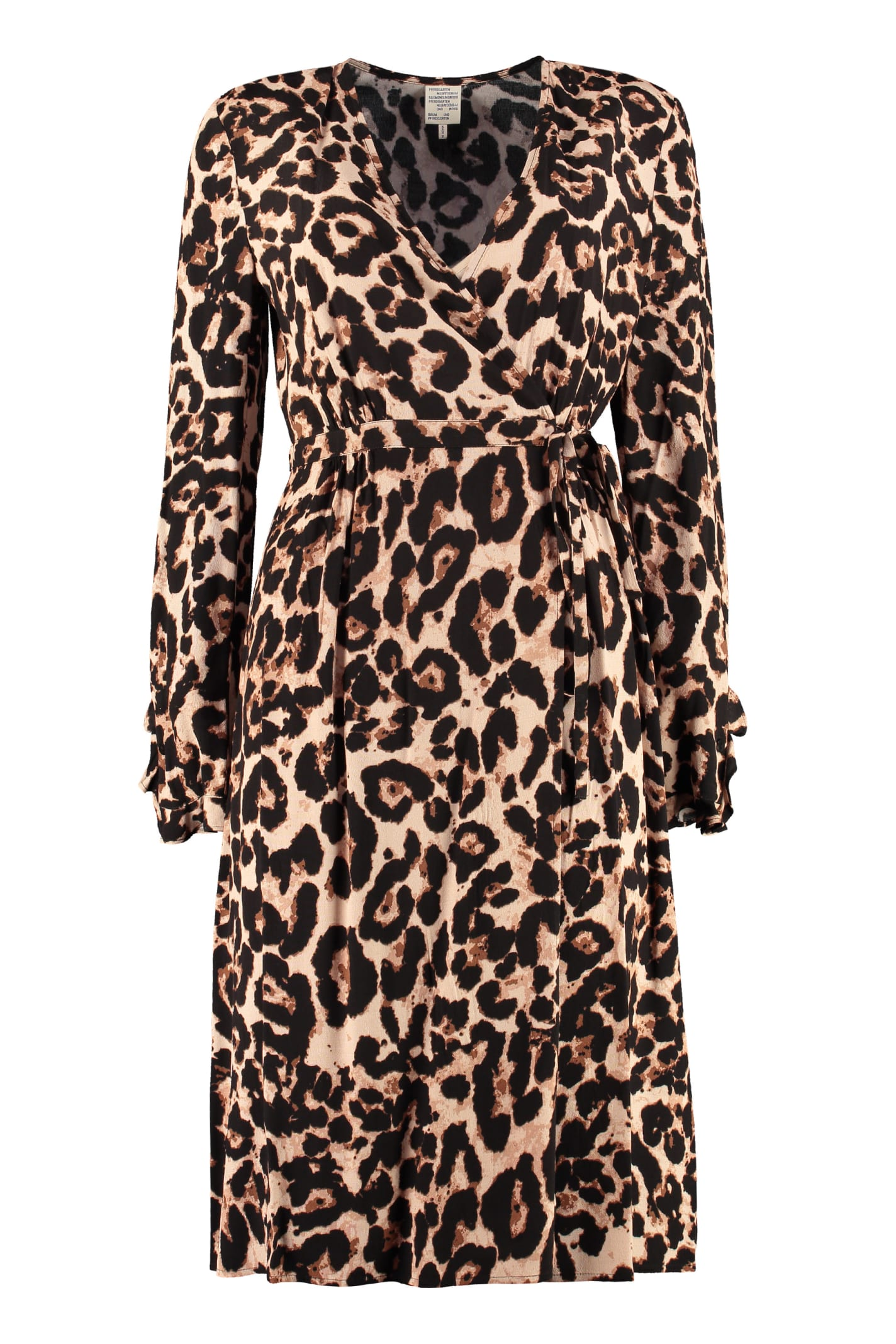 Buy Baum und Pferdgarten Adelota Leopard Printed Midi Dress online, shop Baum und Pferdgarten with free shipping
