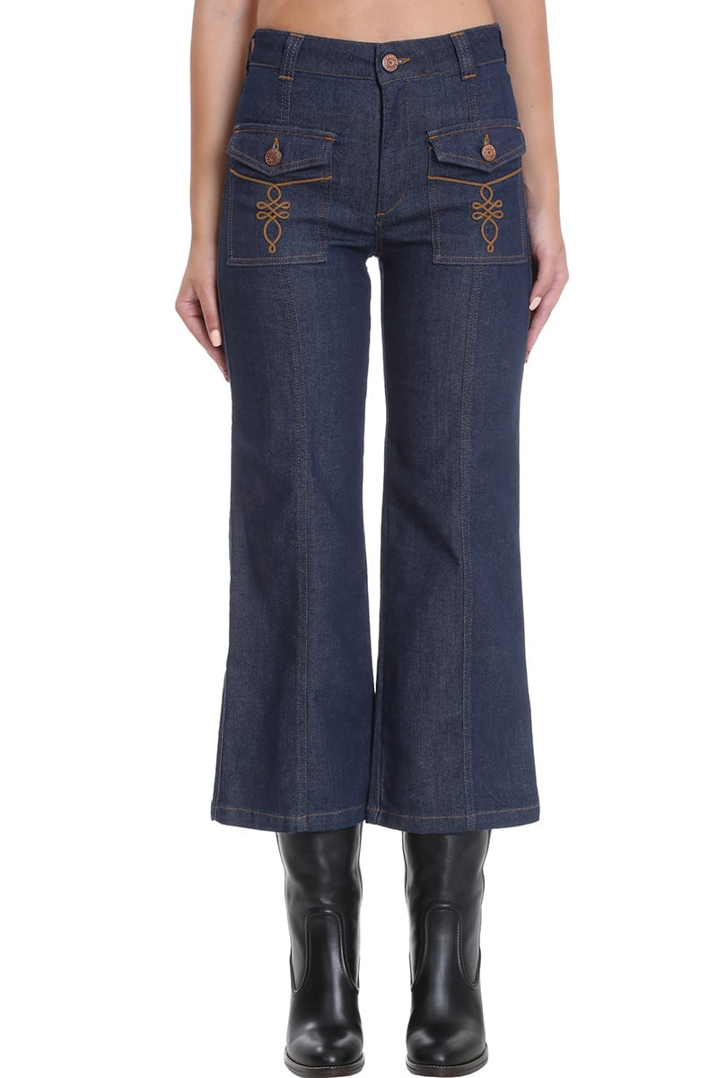 See By Chloé Flared jeans JEANS IN BLUE DENIM