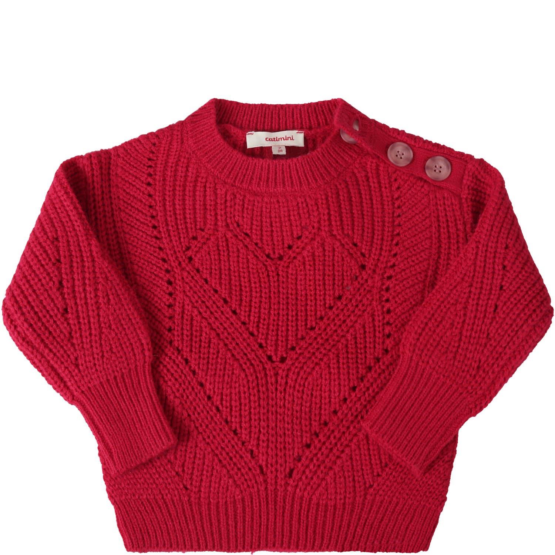 Fuchsia Sweater For Girl
