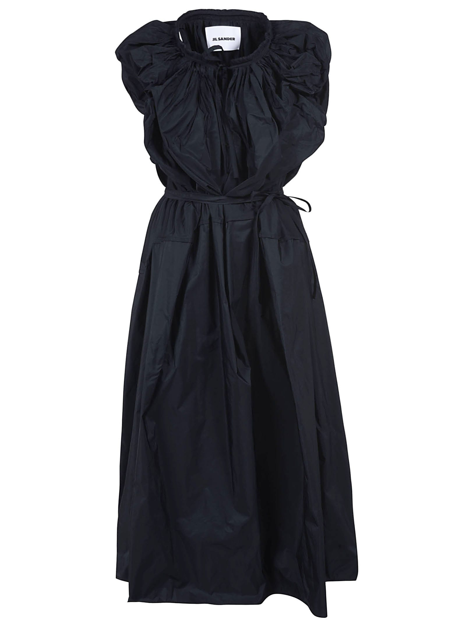 Buy Jil Sander Sleeveless Ruffled Dress online, shop Jil Sander with free shipping