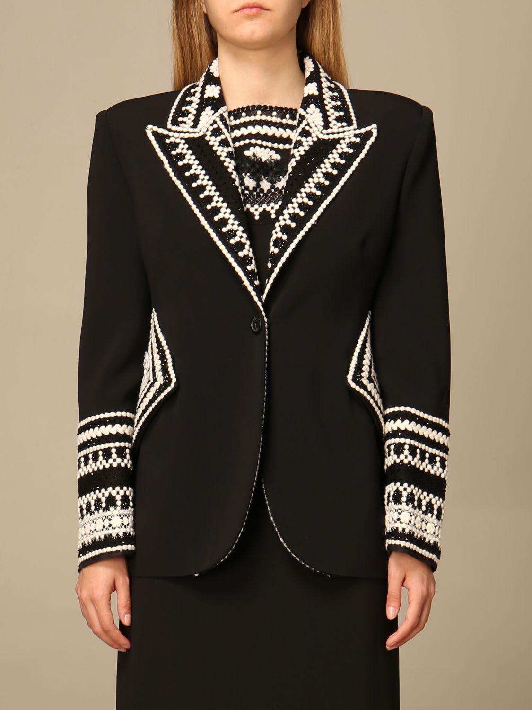 Ermanno Scervino Blazer Ermanno Scervino Single-breasted Jacket With Embroidered Details