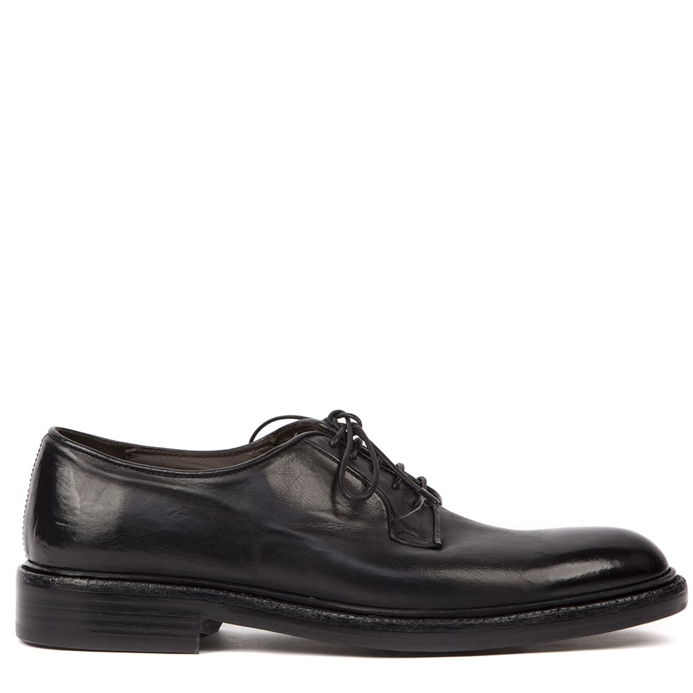 Black Leather Laced Shoes