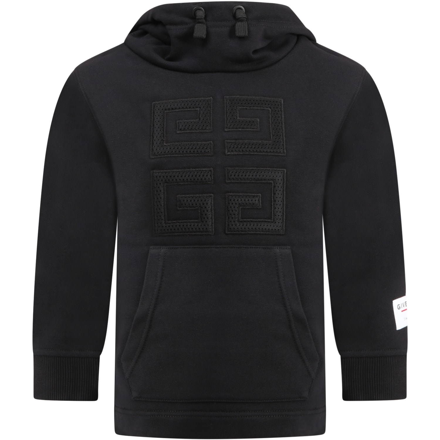 Givenchy BLACK SWEATSHIRT FOR KIDS WITH 4G