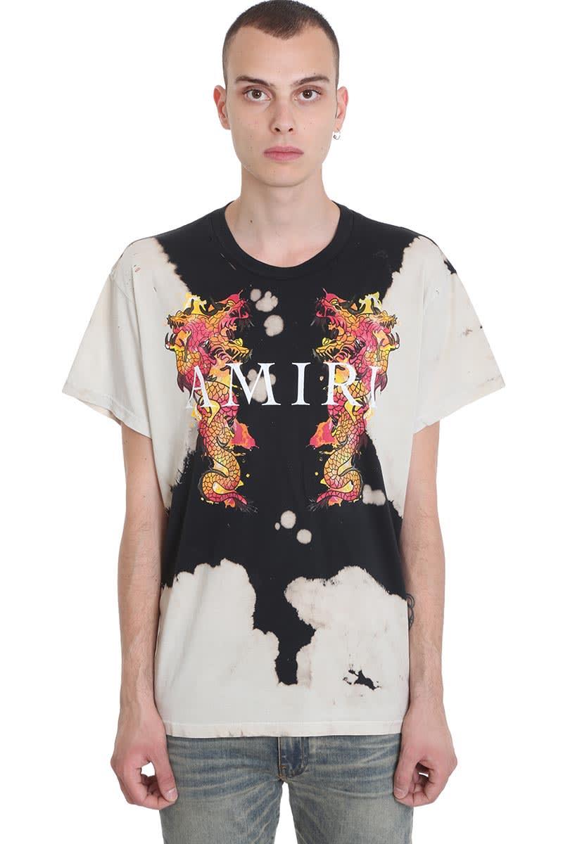Amiri T-shirts T-SHIRT IN BLACK COTTON