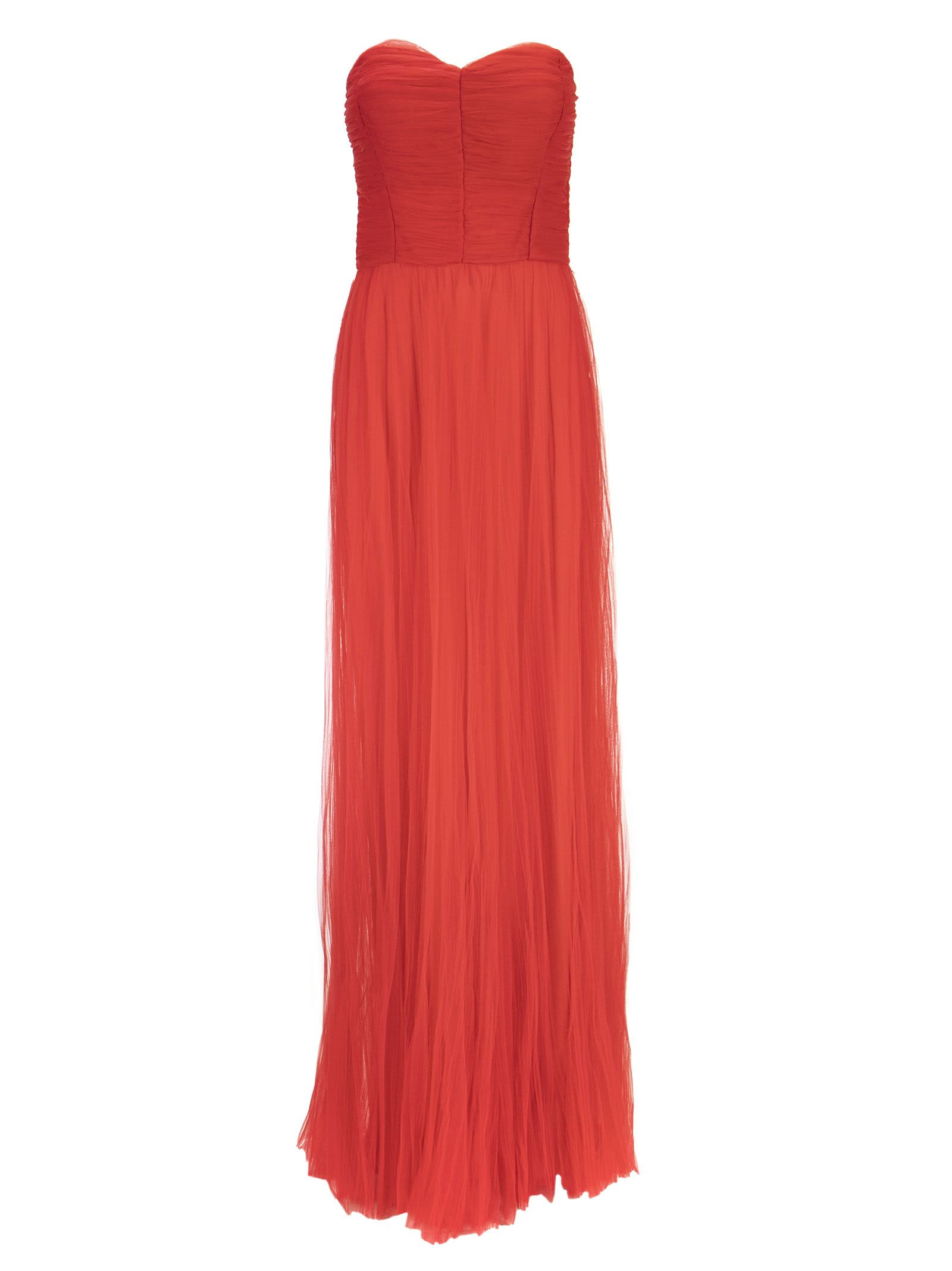 Elisabetta Franchi Red Carpet Dress In Tulle Fabric