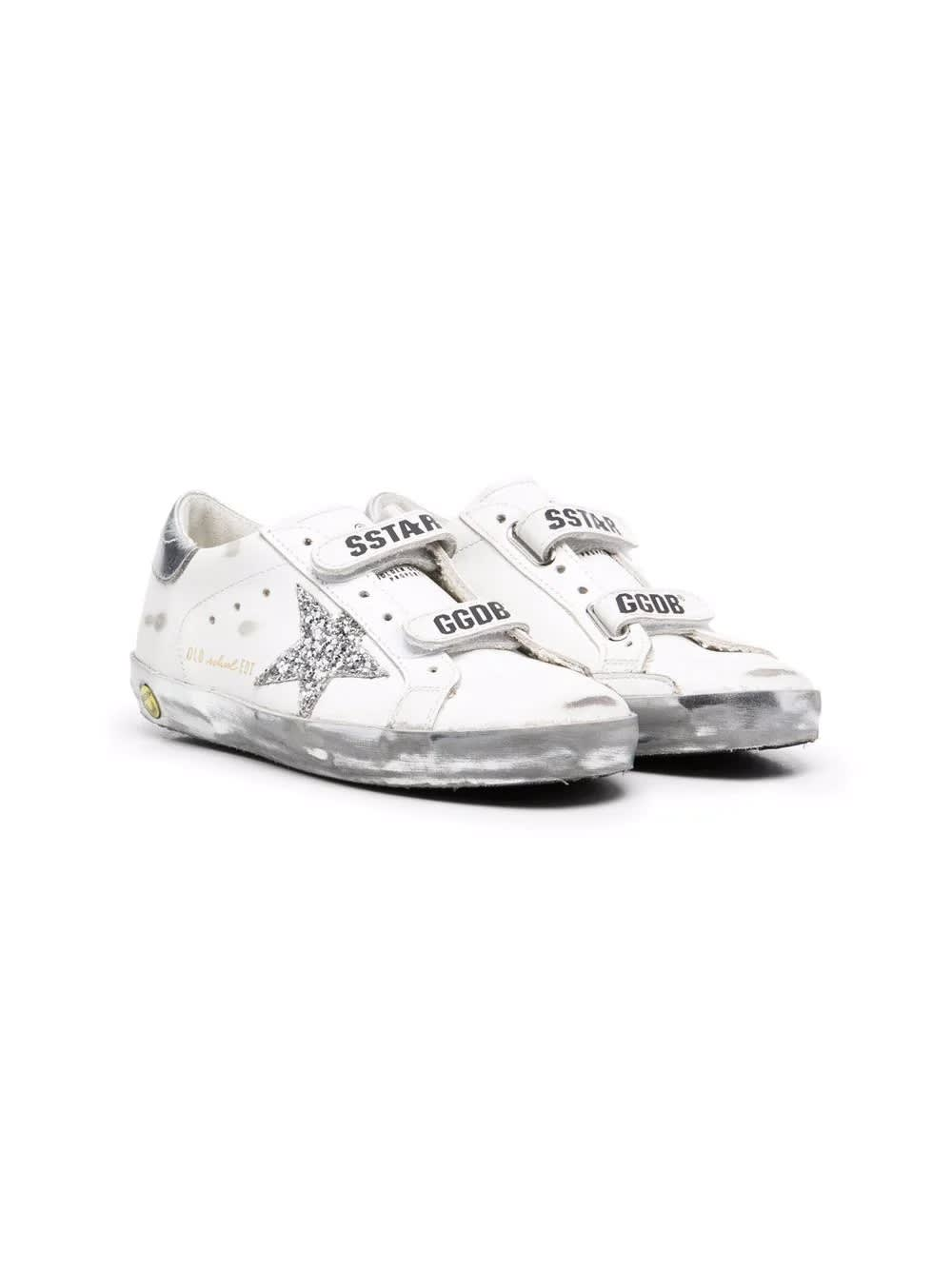 Golden Goose Little Girl Sneakers With Tear