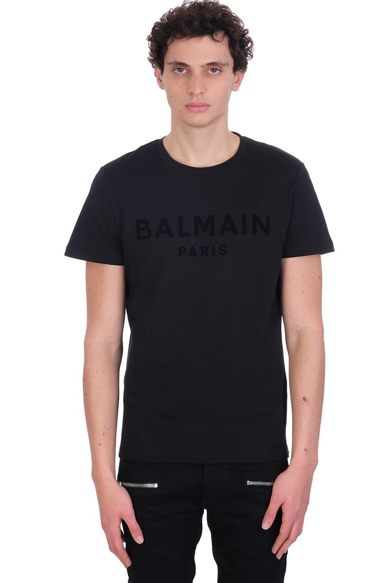 Balmain T-SHIRT IN BLACK COTTON