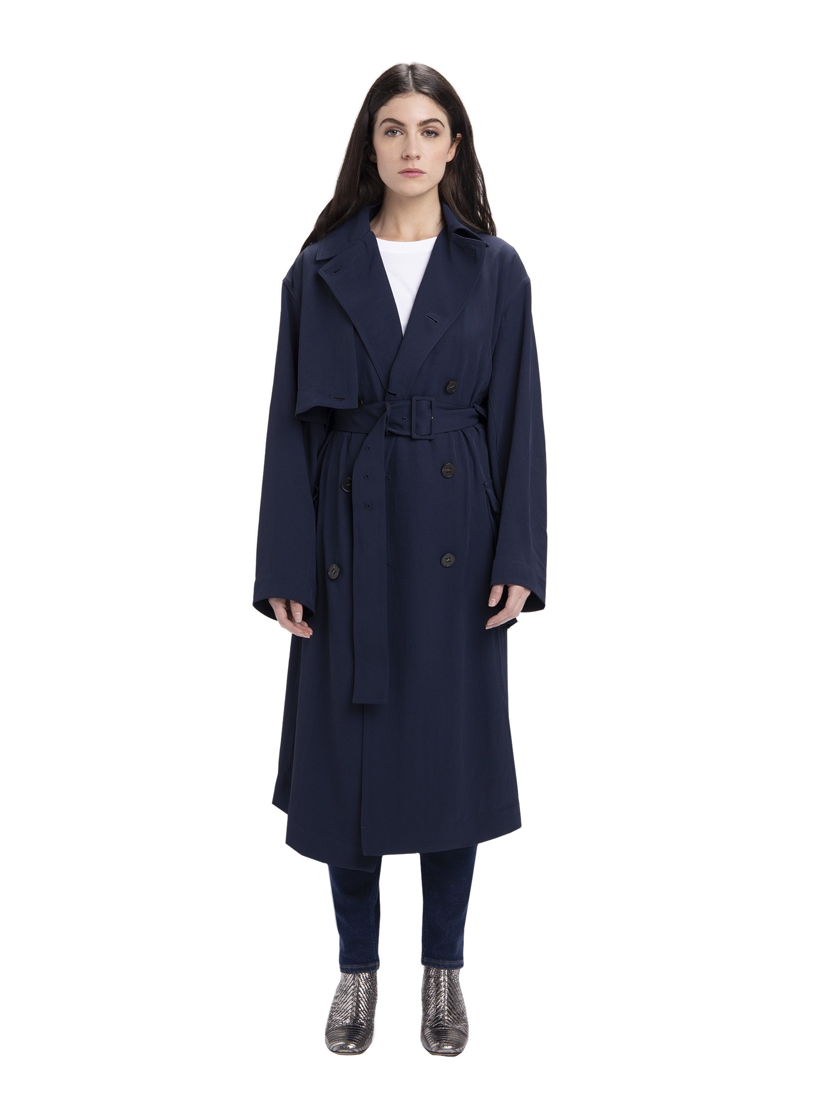 Acne Studios Fluid Twill Trench