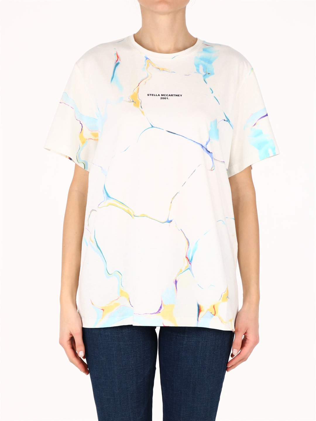 Stella Mccartney PRINTED T-SHIRT WHITE